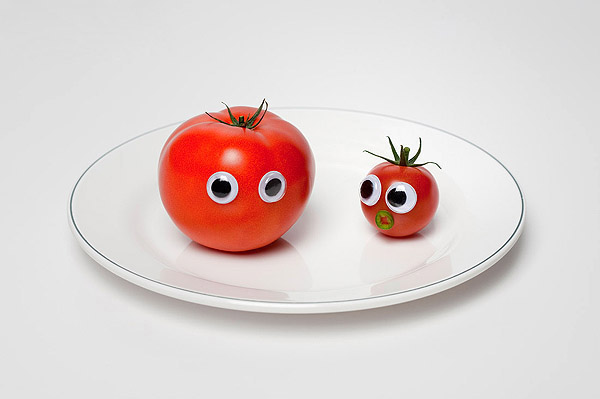 Vegetables and fruits Funny face 23348