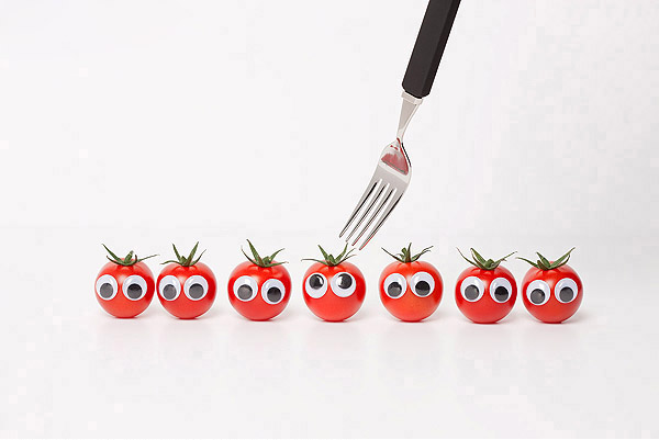 Vegetables and fruits Funny face 23656