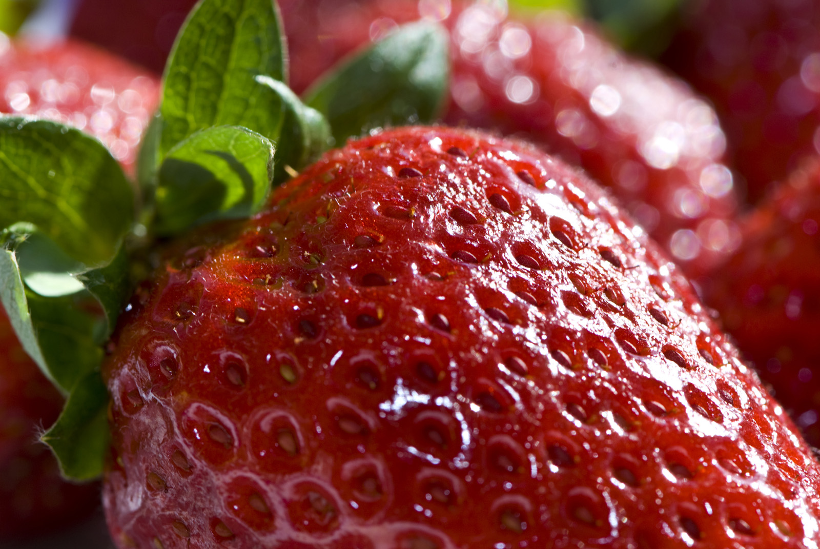 Strawberry close-up high-definition 7232