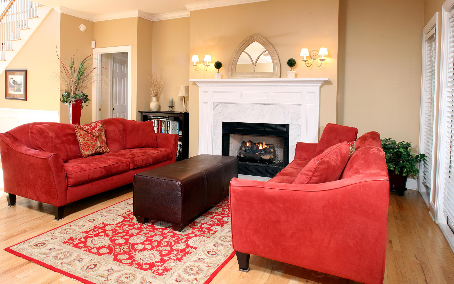 Western-style home fireplace 23249