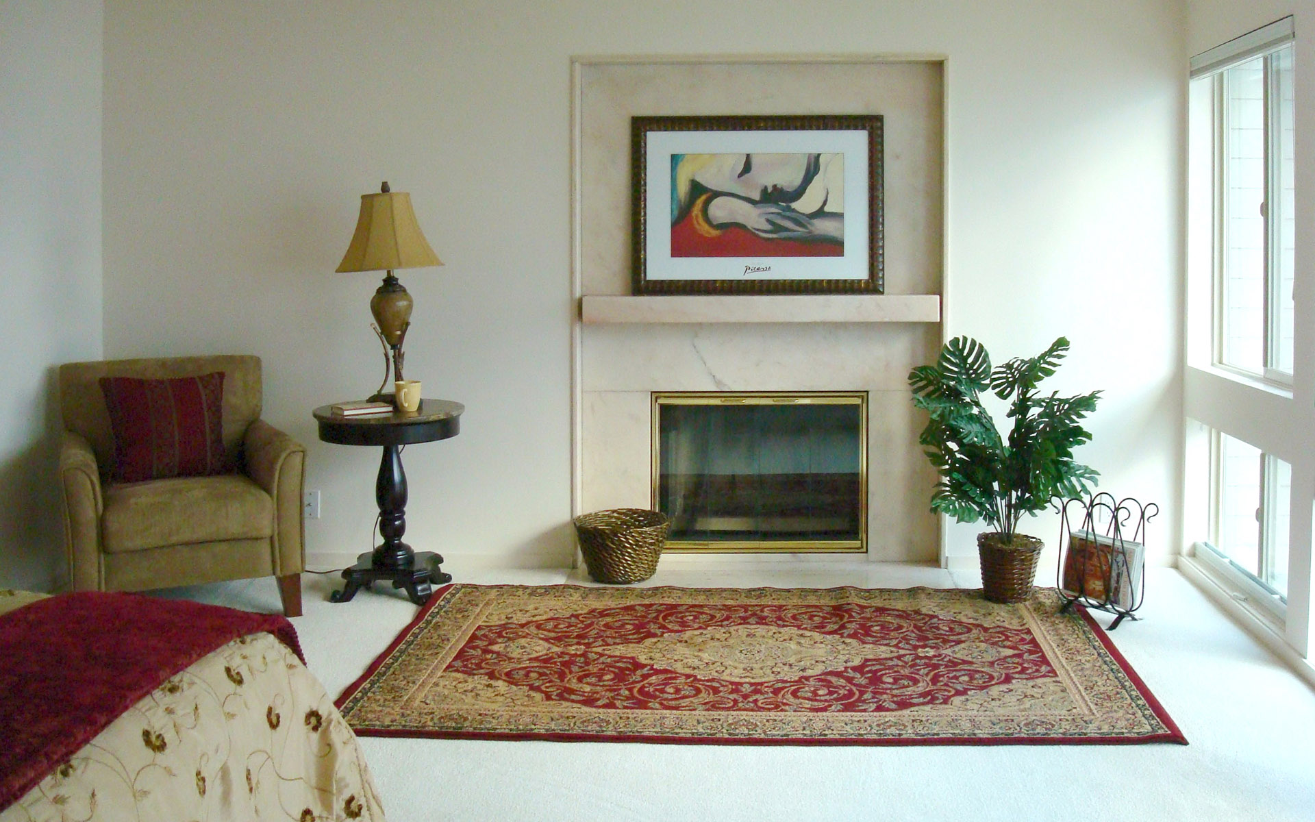 Western-style home fireplace 23274