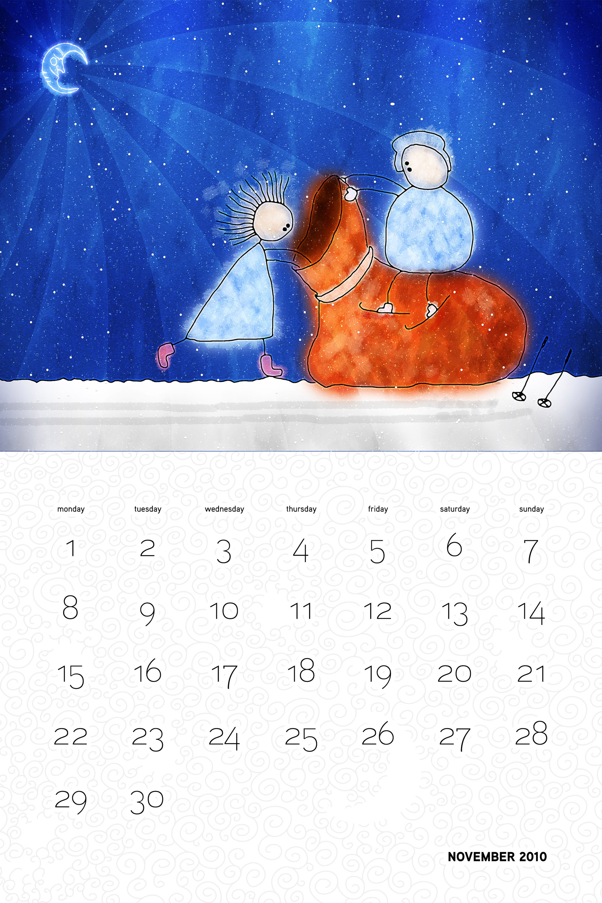 Vlad Christmas Calendar Wallpaper 26311