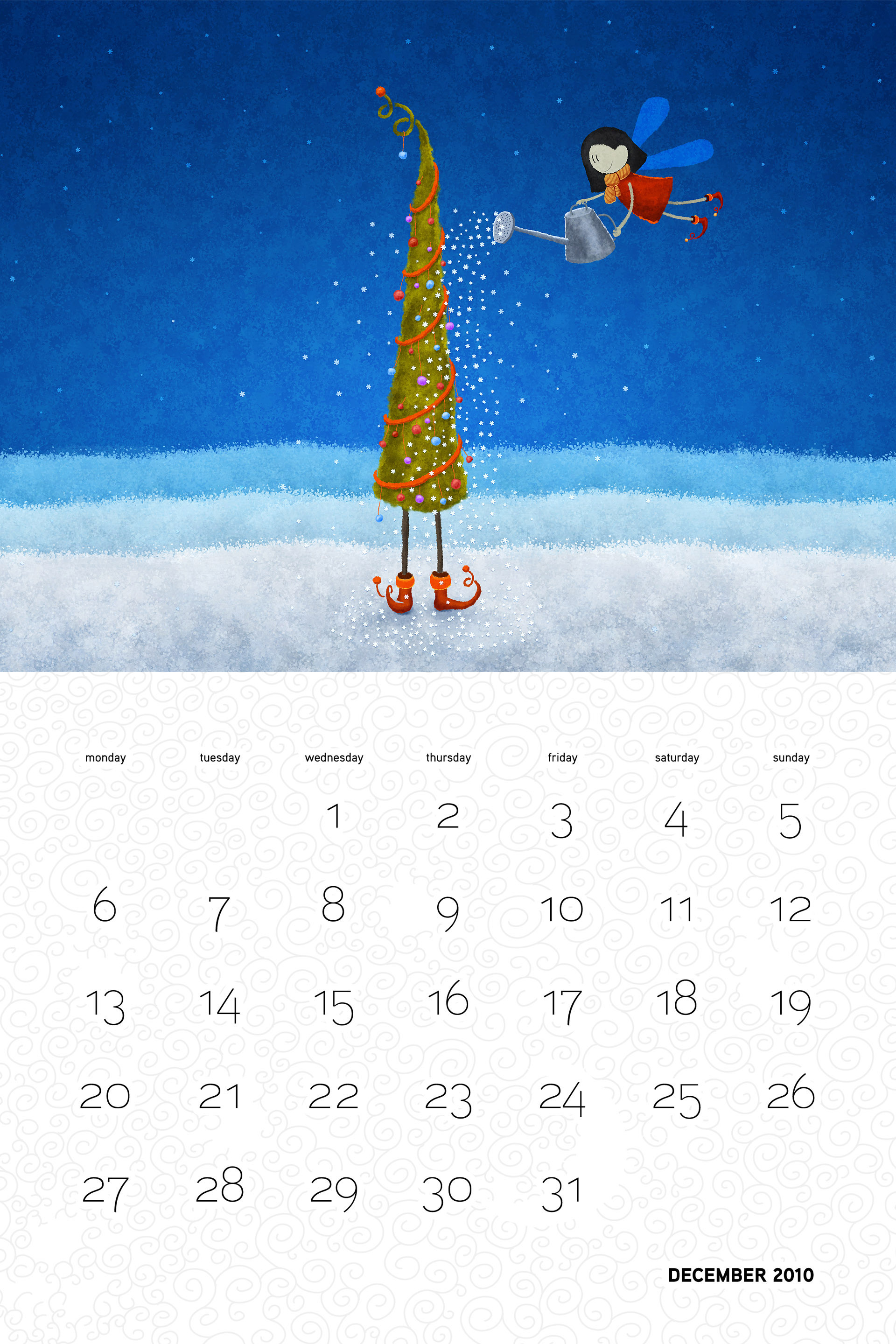 Vlad Christmas Calendar Wallpaper 26323