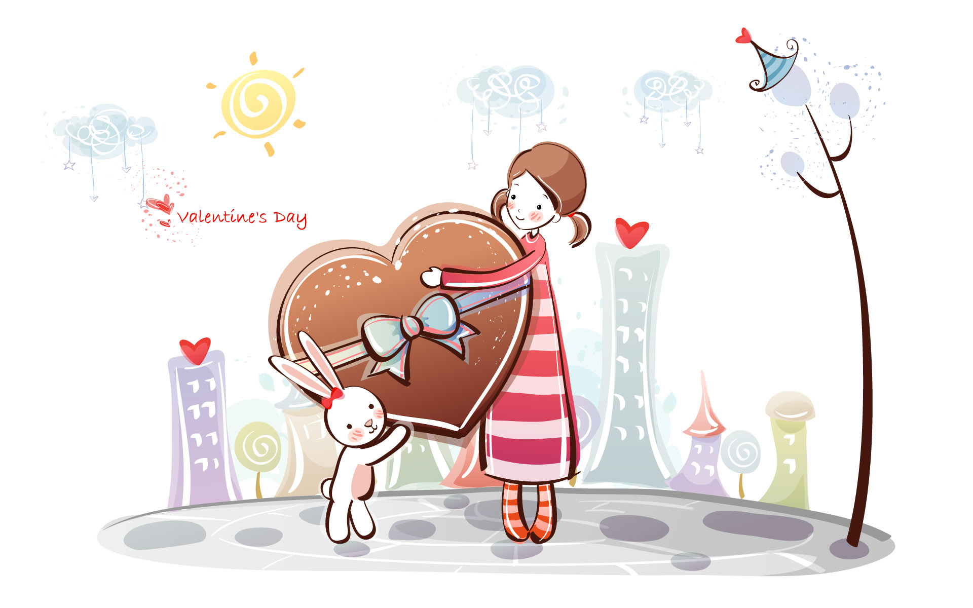 Romantic Valentine's Day illustration class 10827