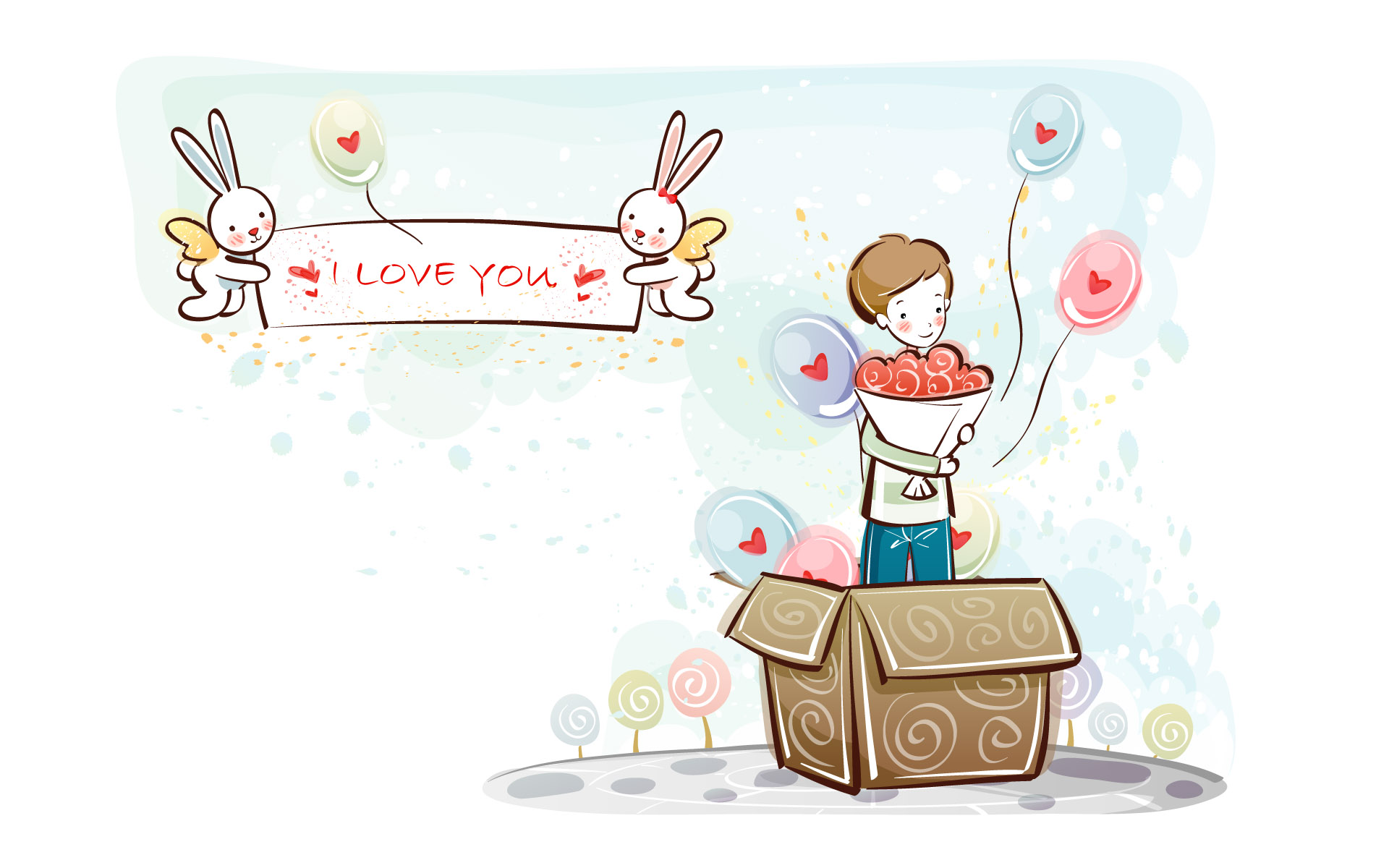 Romantic Valentine's Day illustration class 11291