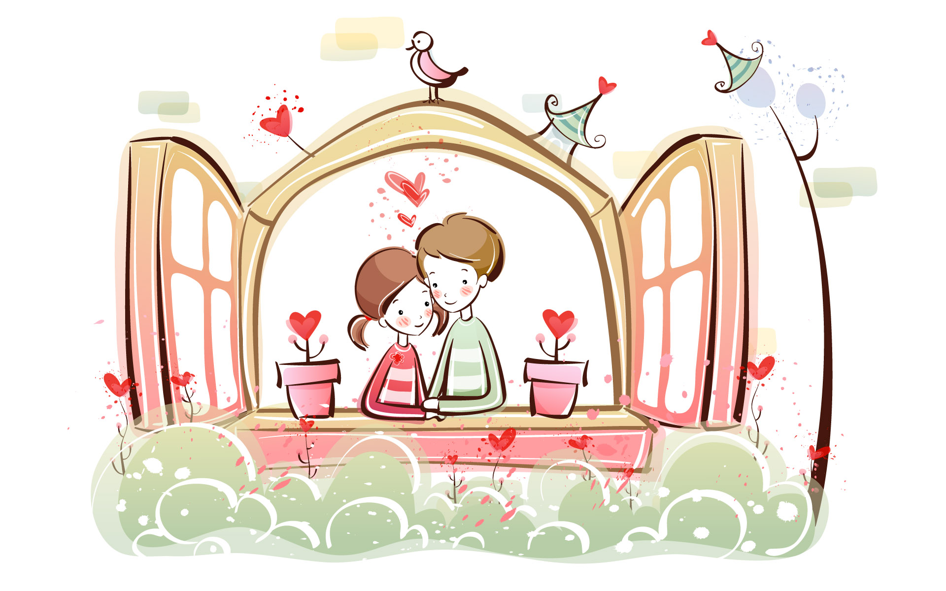 Romantic Valentine's Day illustration class 11735