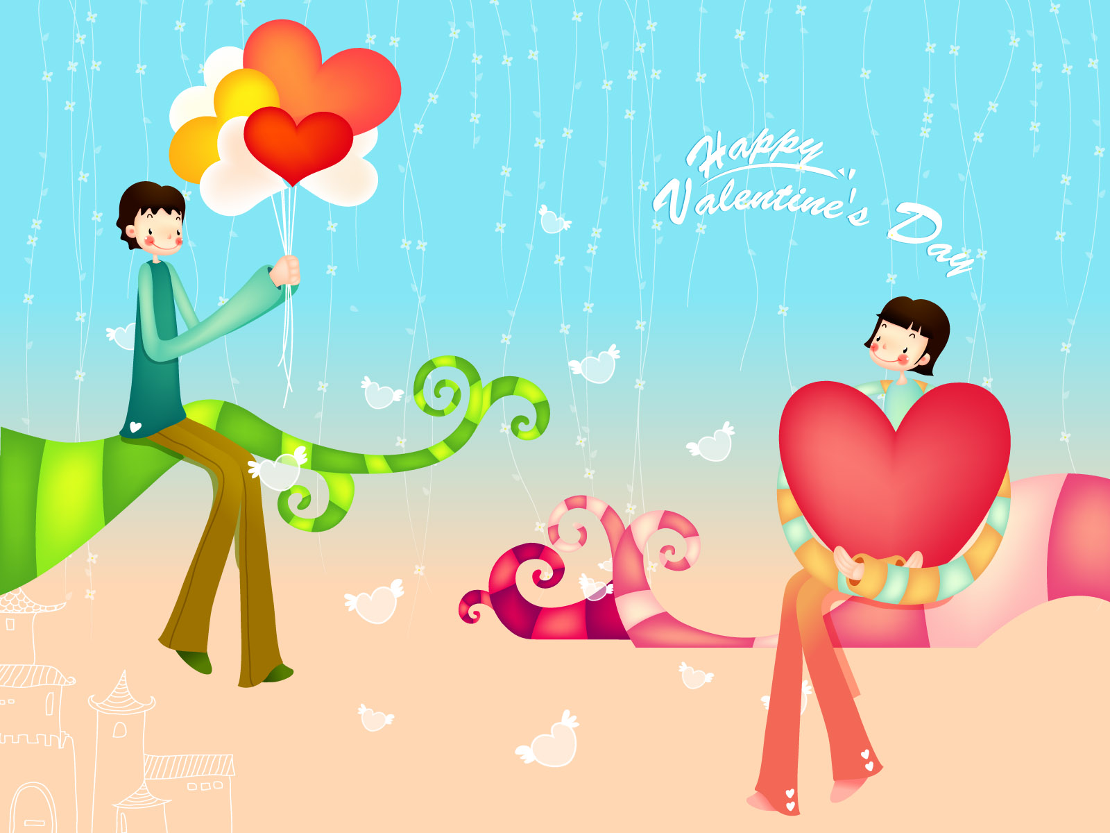 Romantic Valentine's Day illustration class 11993