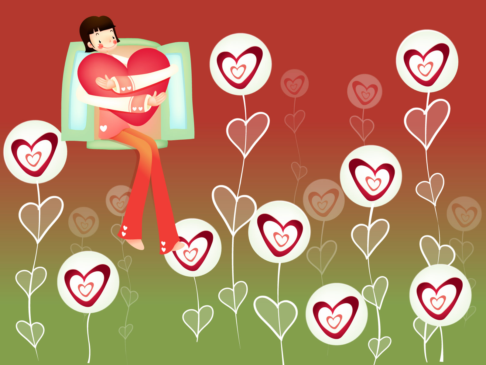 Romantic Valentine's Day illustration class 12079