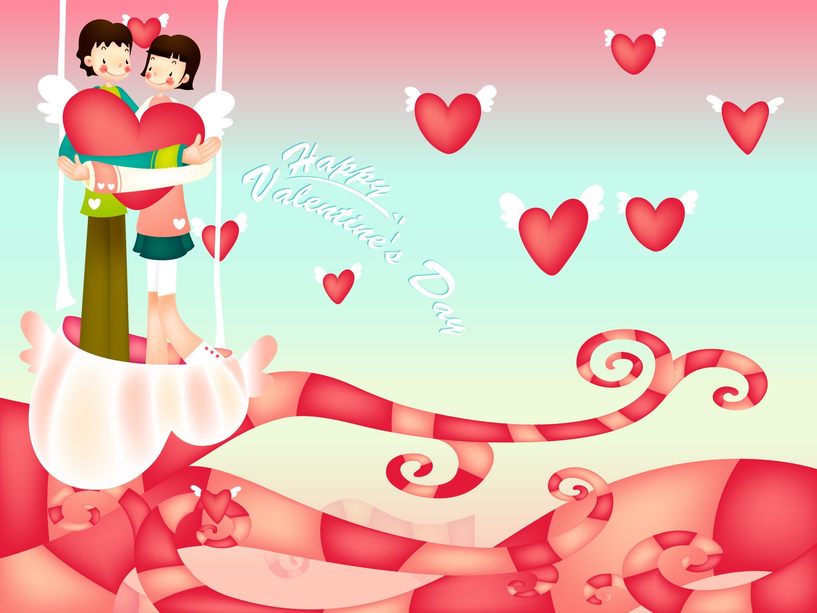 Romantic Valentine's Day illustration class 12757