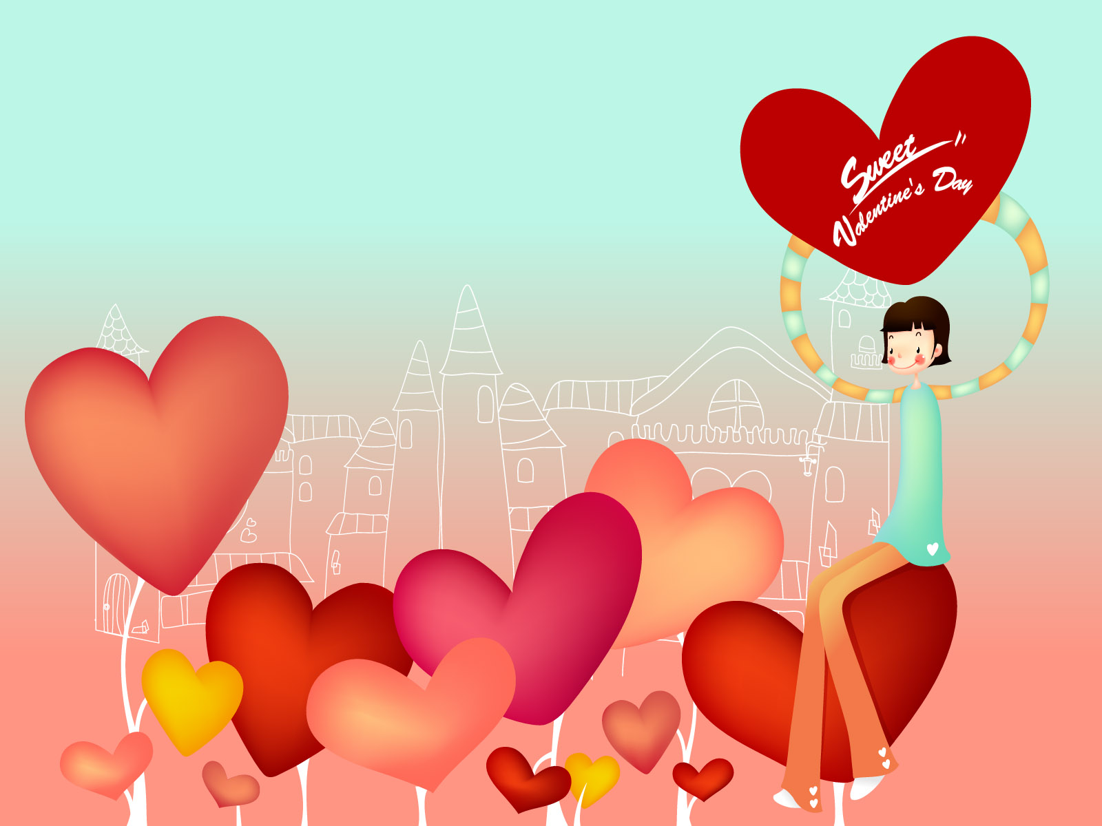 Romantic Valentine's Day illustration class 13472