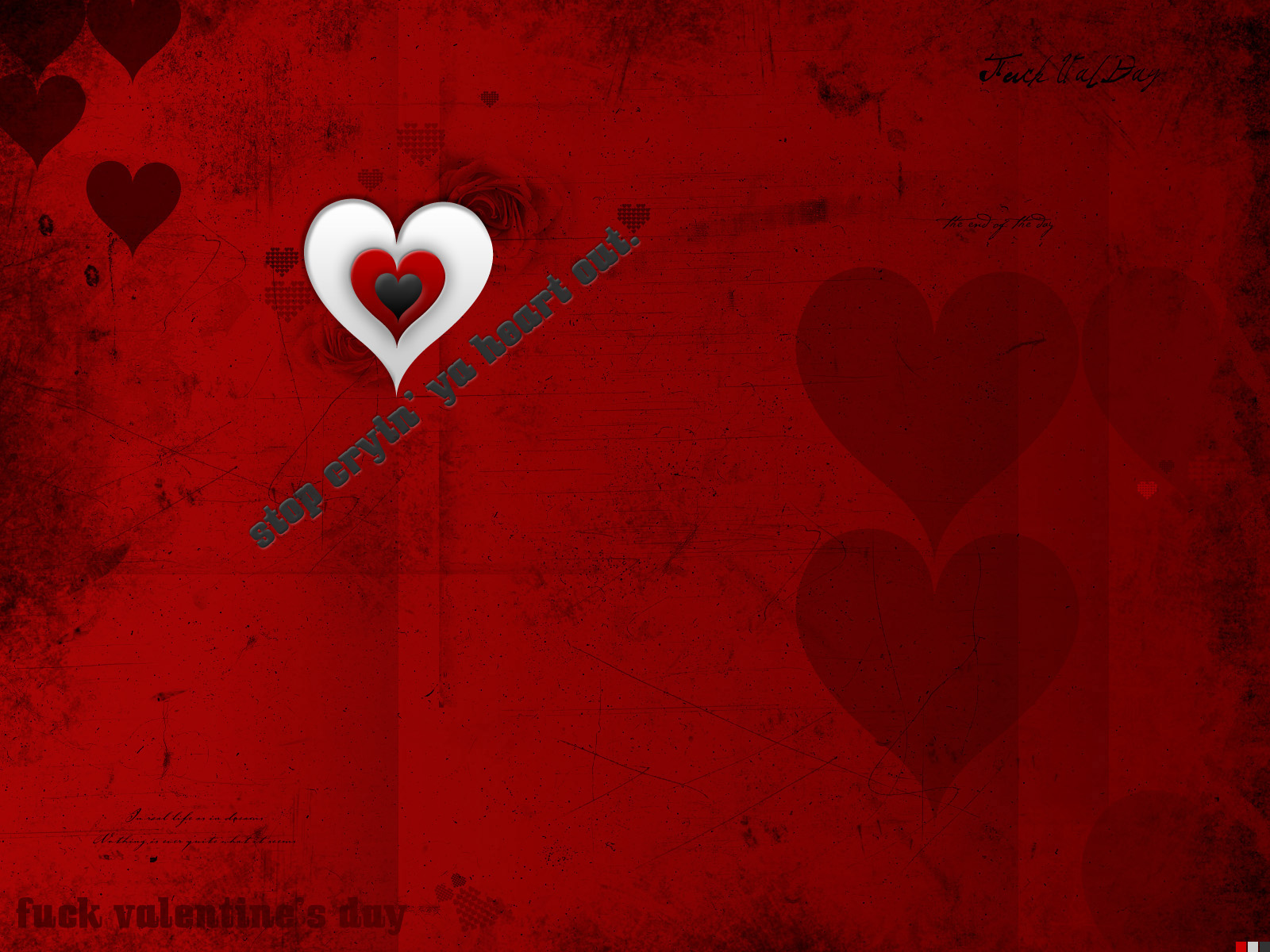 Beautifully designed Valentine's Day wallpaper x 2032