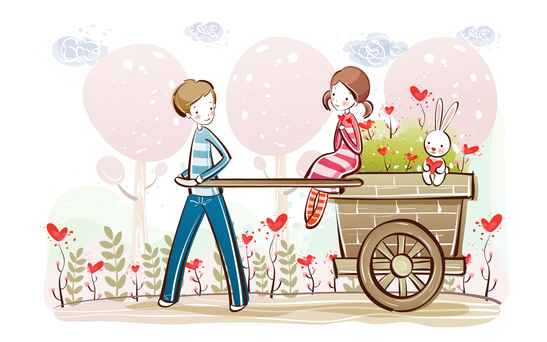 Romantic Valentine's Day illustration class 8946
