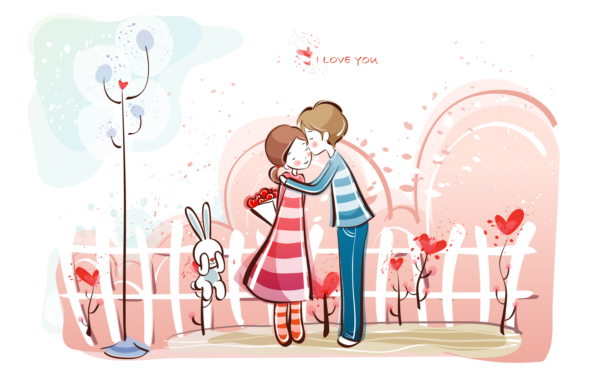 Romantic Valentine's Day illustration class 9805