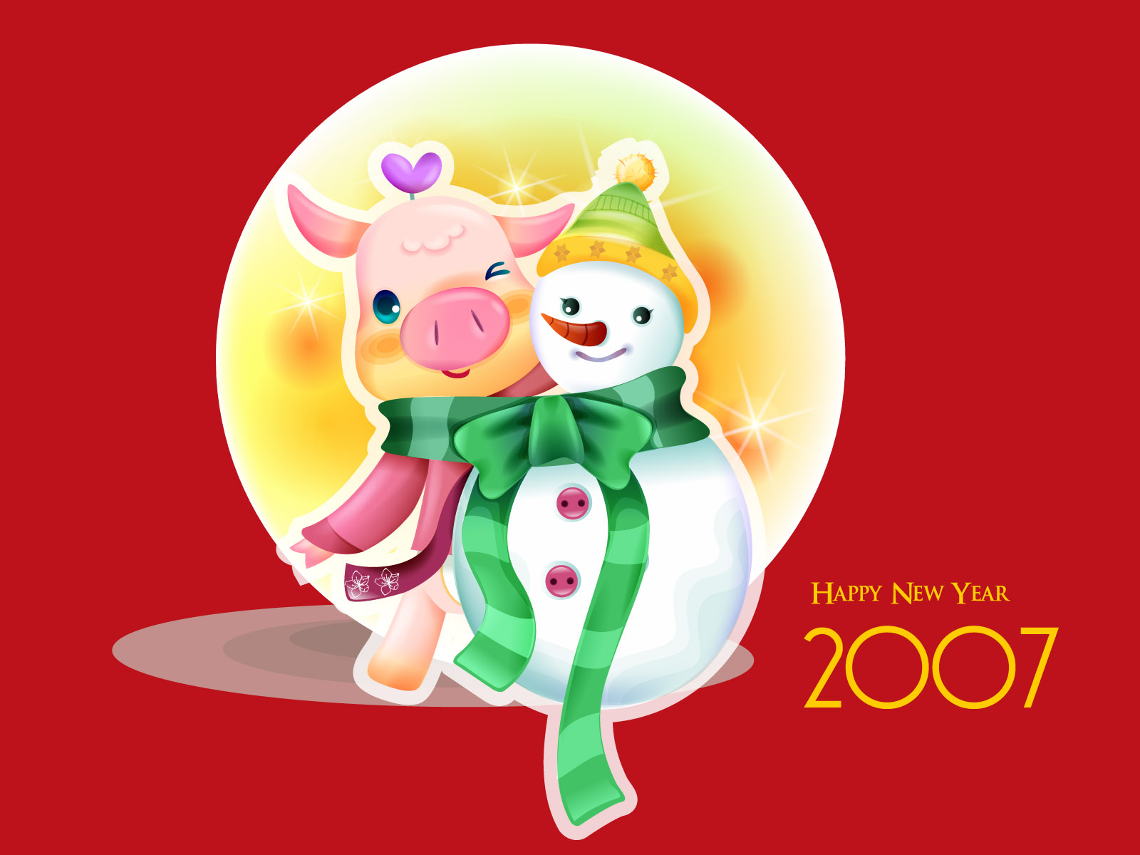 Vector Chinese New Year Wallpaper 4095