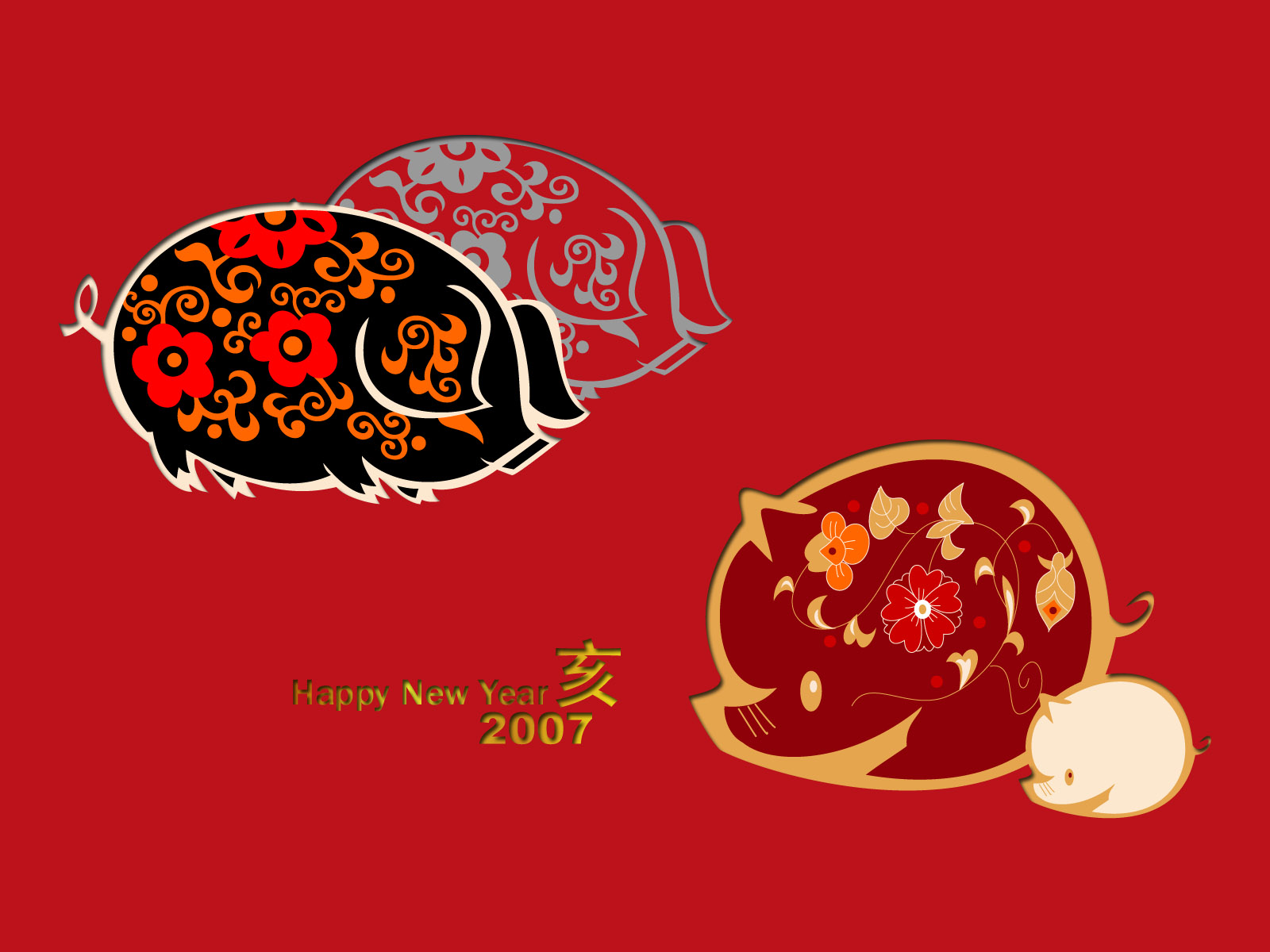 Vector Chinese New Year Wallpaper 5398