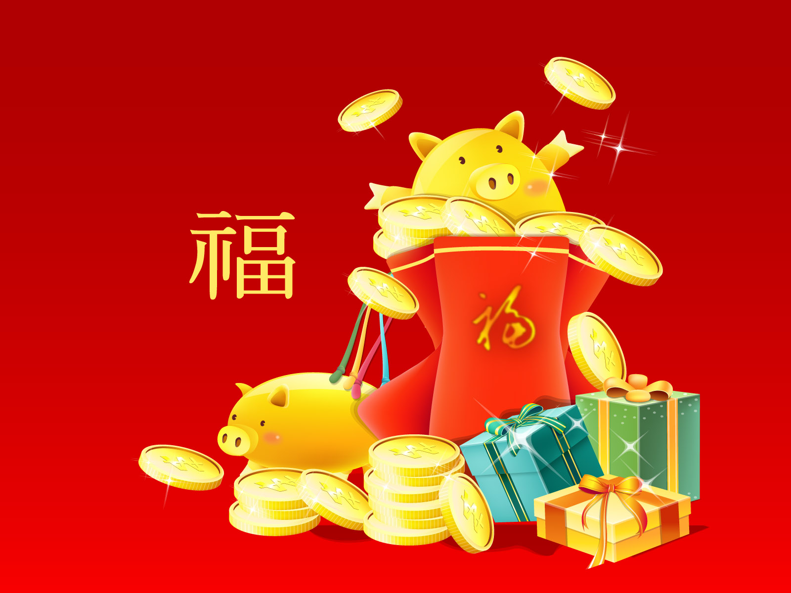 vector chinese new year wallpaper 5823