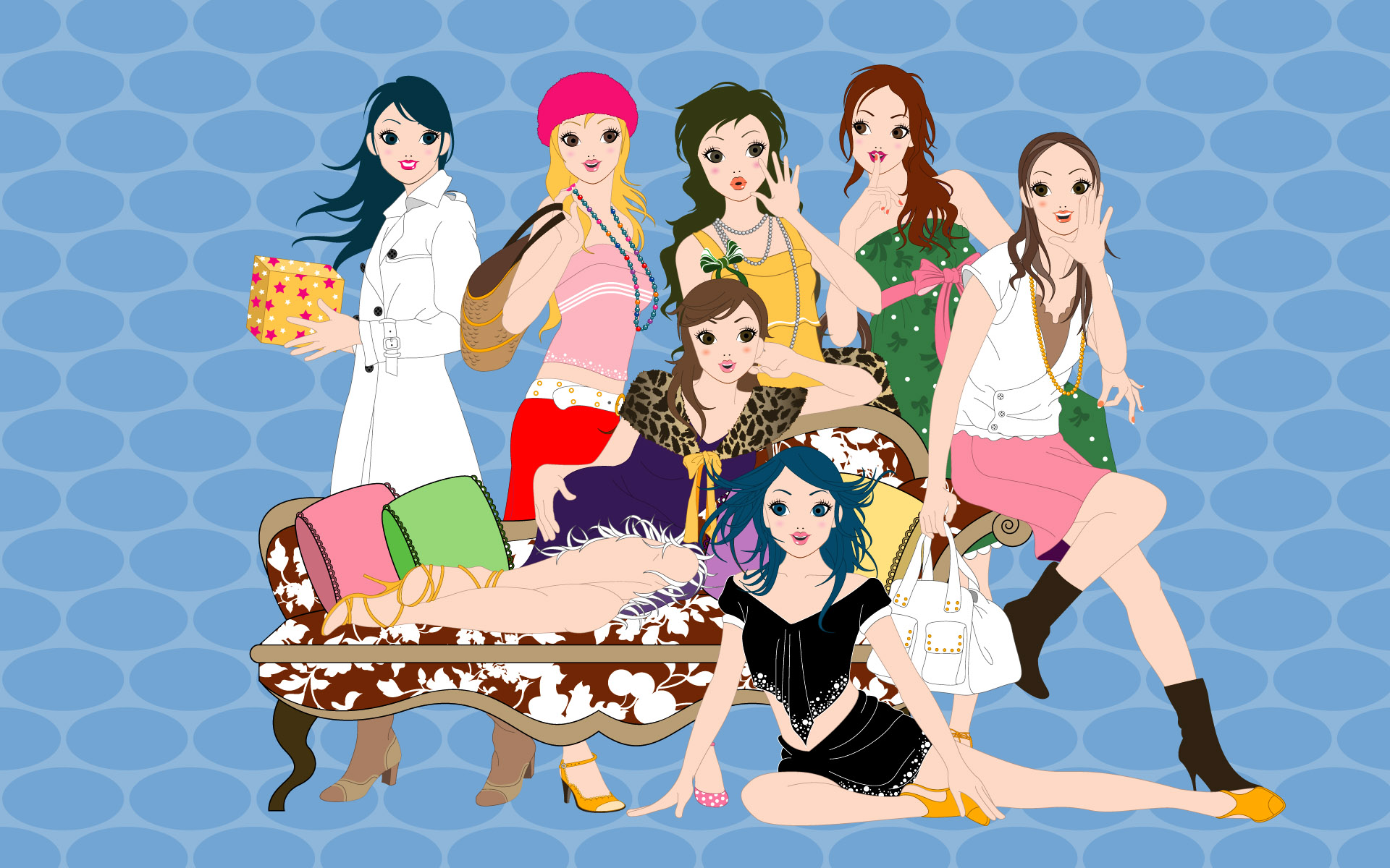Fashion women wallpaper 19803