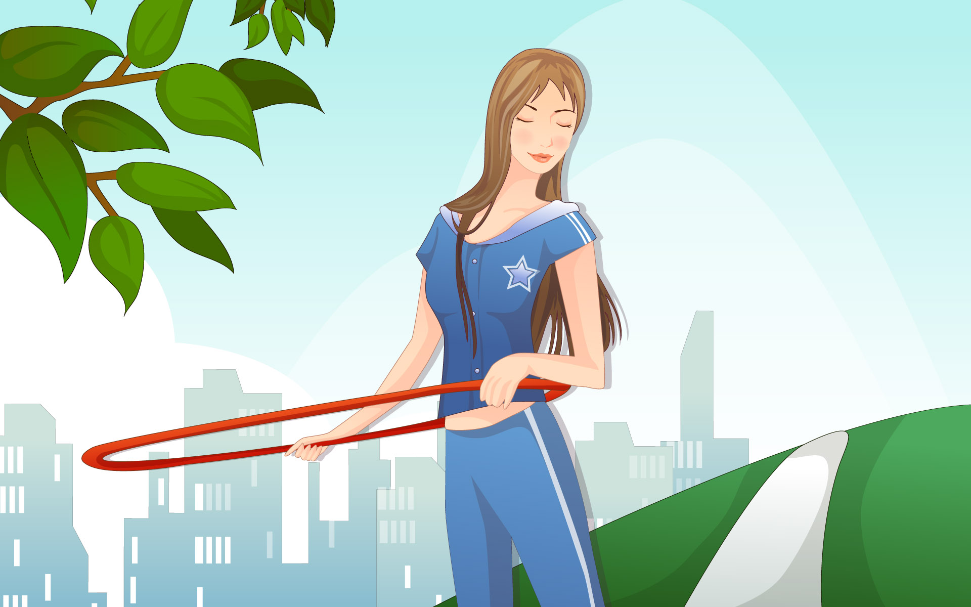 Sports Girl 12428 Sports Girls Wallpapers Cartoon Illustration