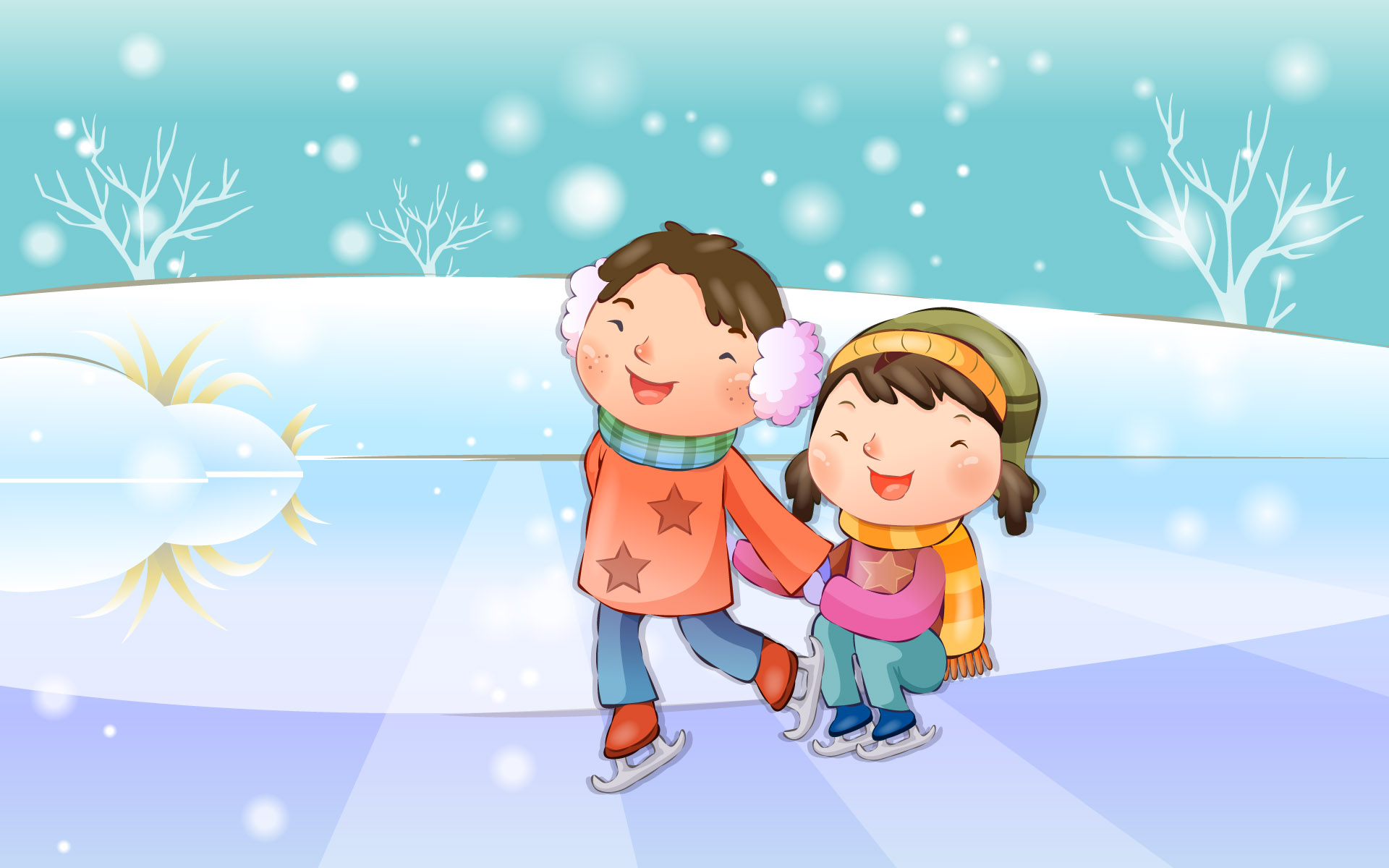 Happy childhood winter chapter illustrations 11299