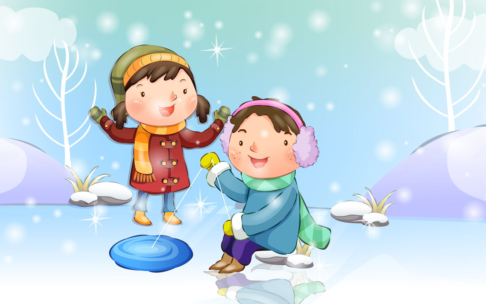 Happy childhood winter chapter illustrations 11829