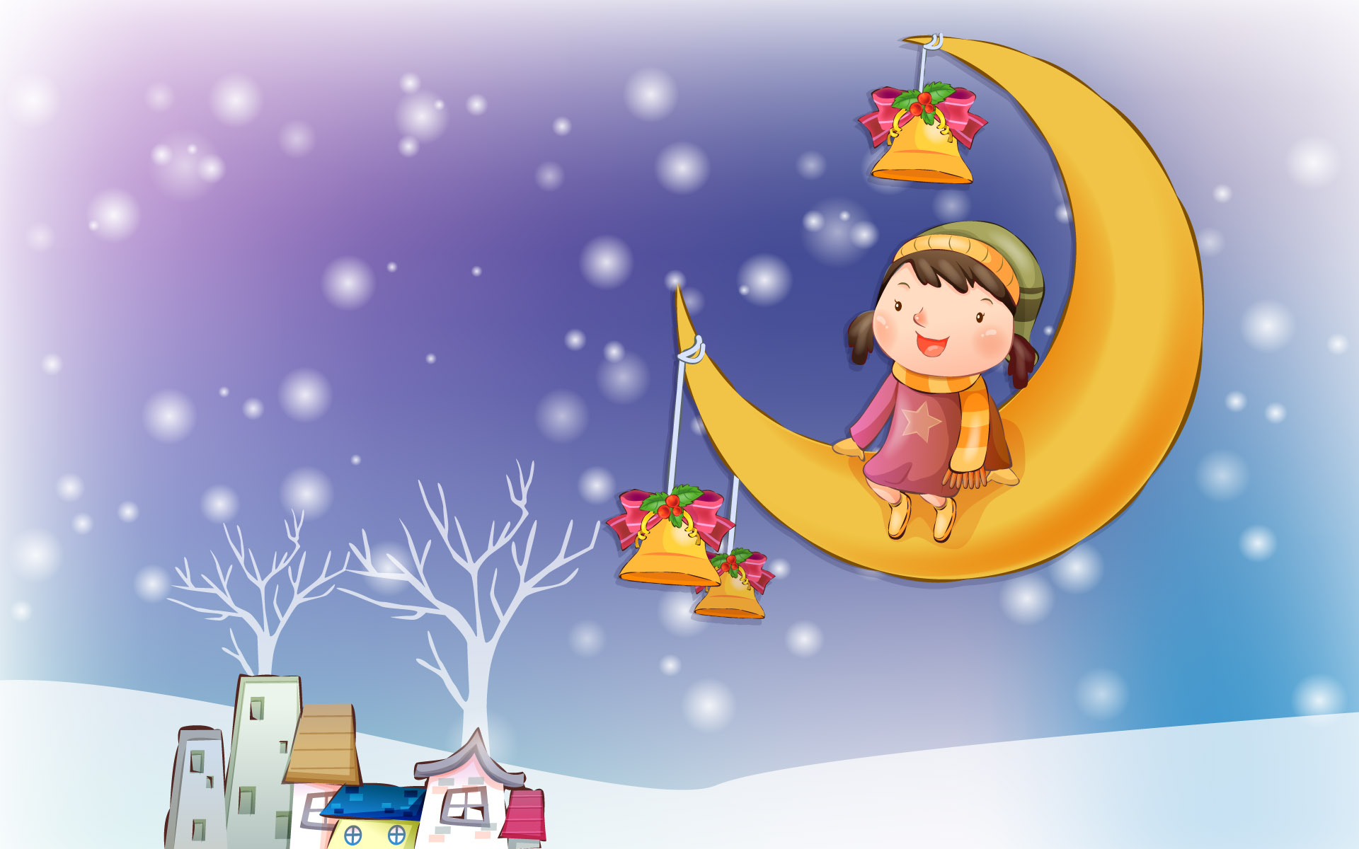 Happy childhood Christmas illustration articles 13084