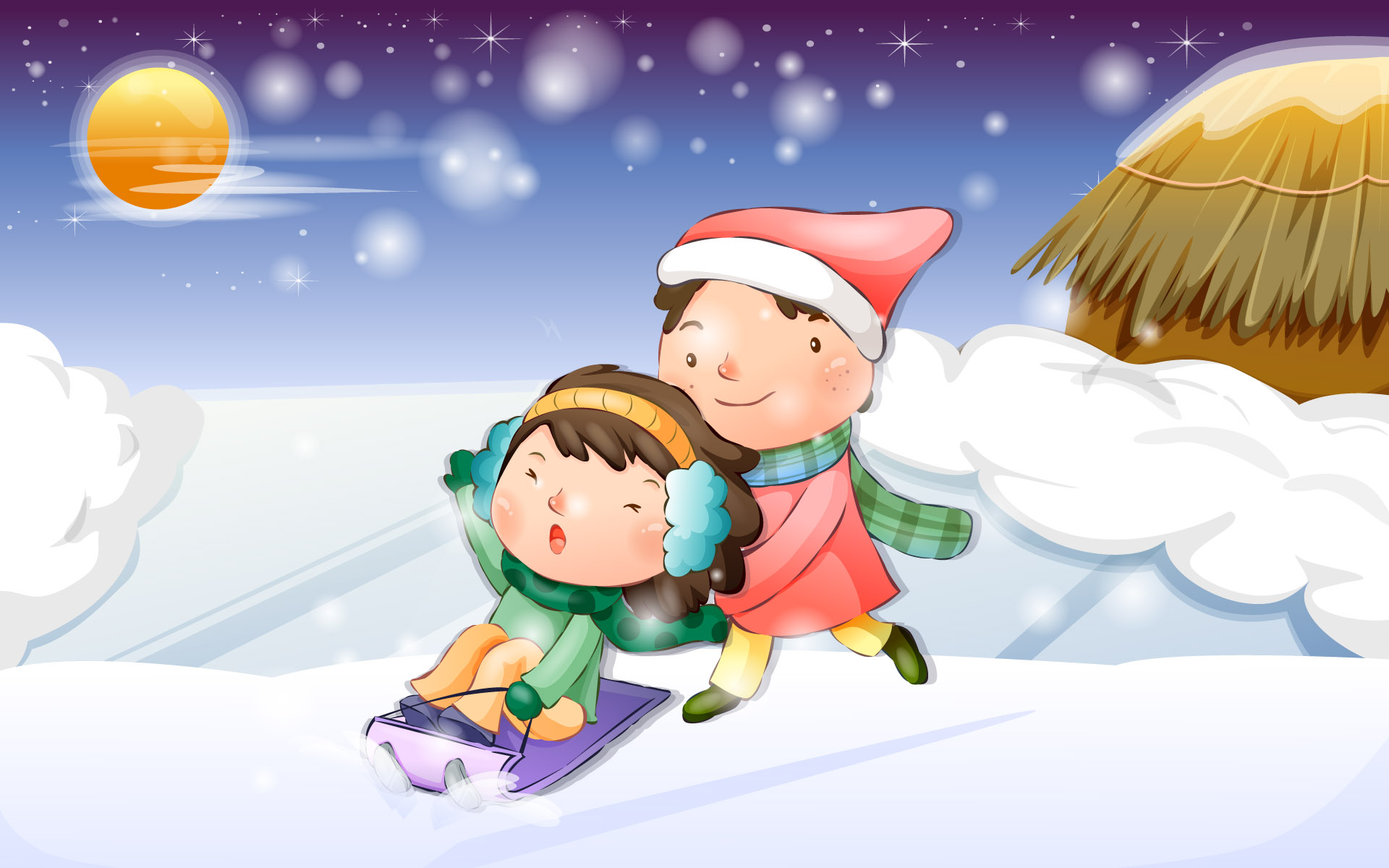 Happy childhood Christmas illustration articles 13242