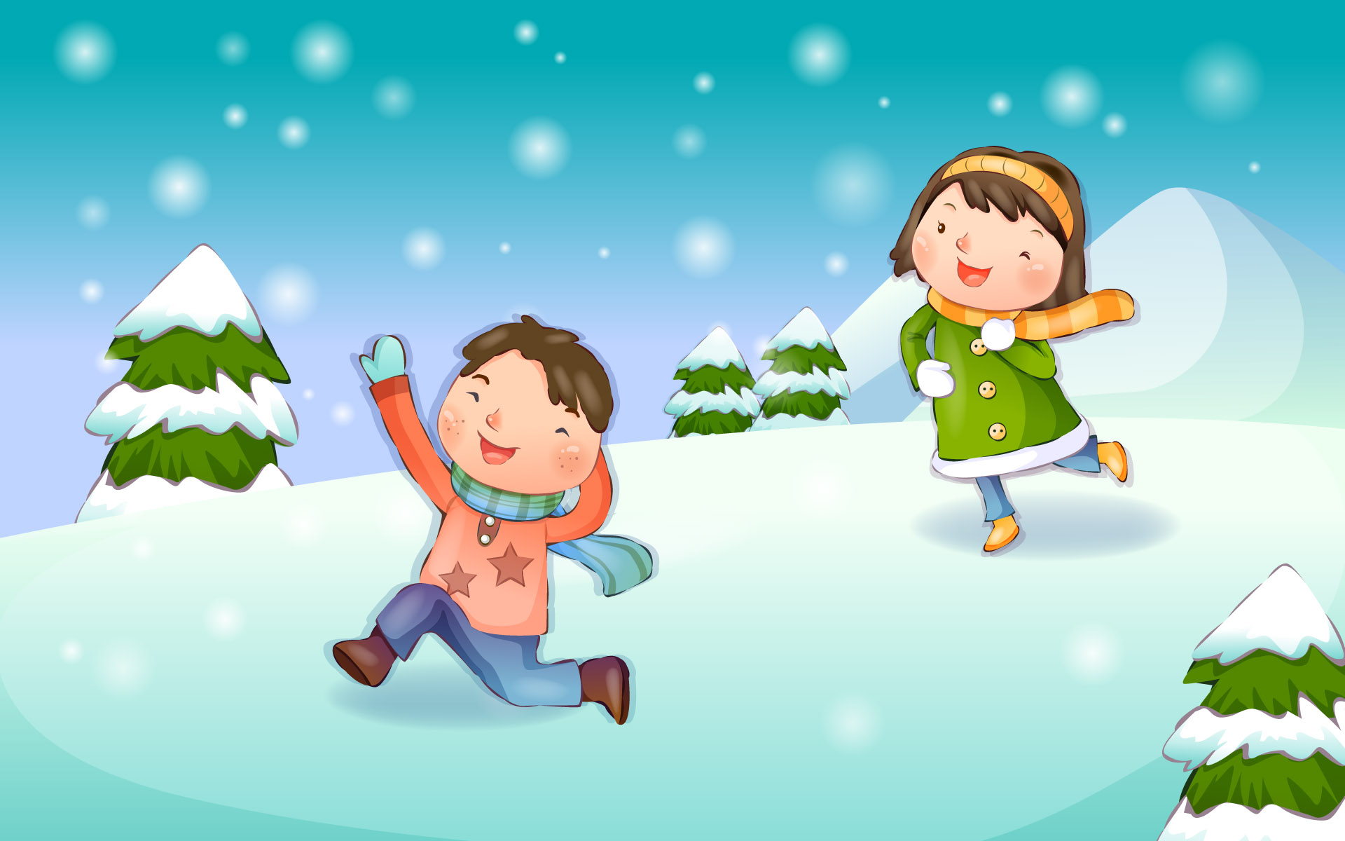 Happy childhood Christmas illustration articles 14026