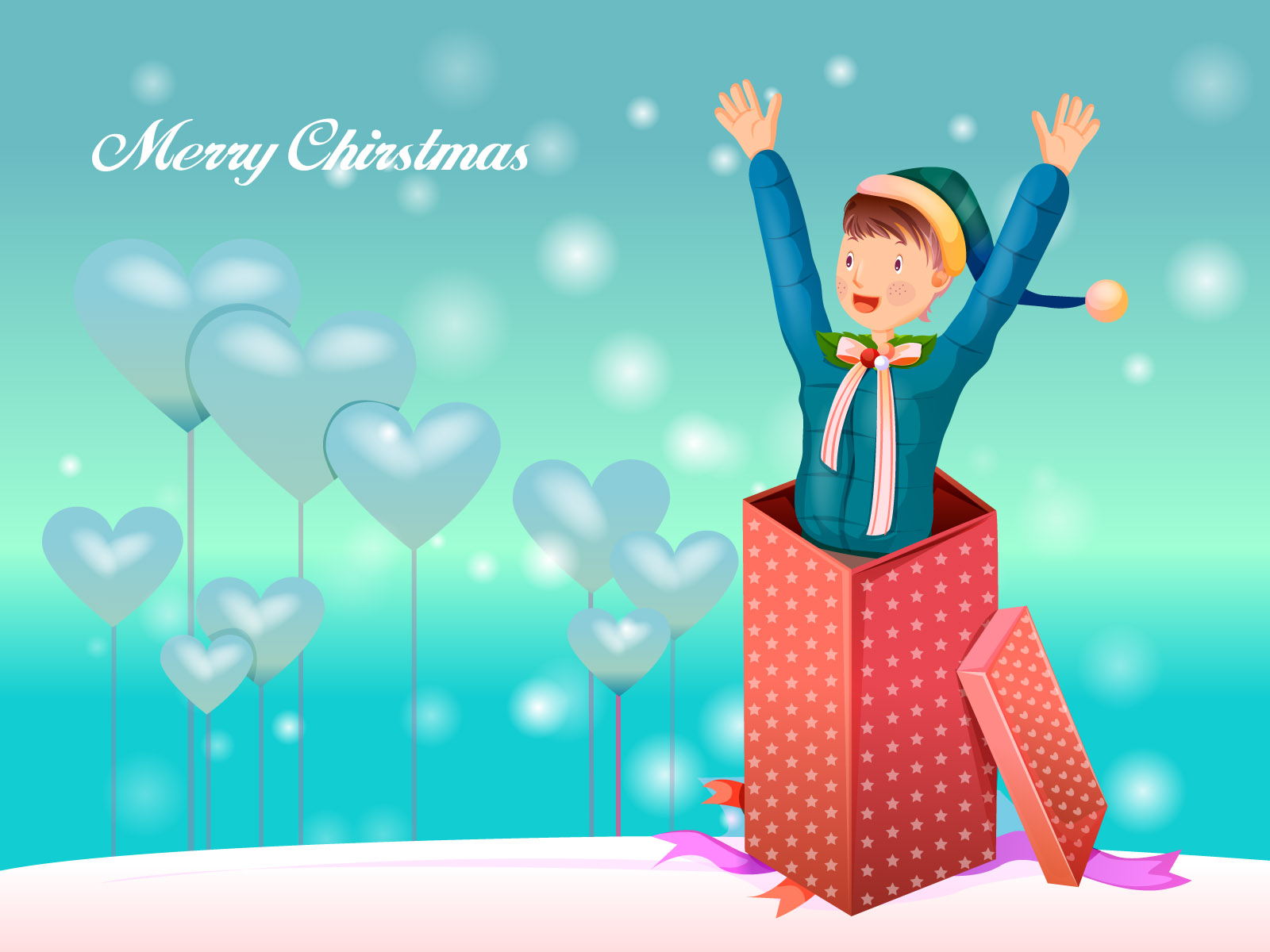 Christmas illustration wallpaper winter articles 16090