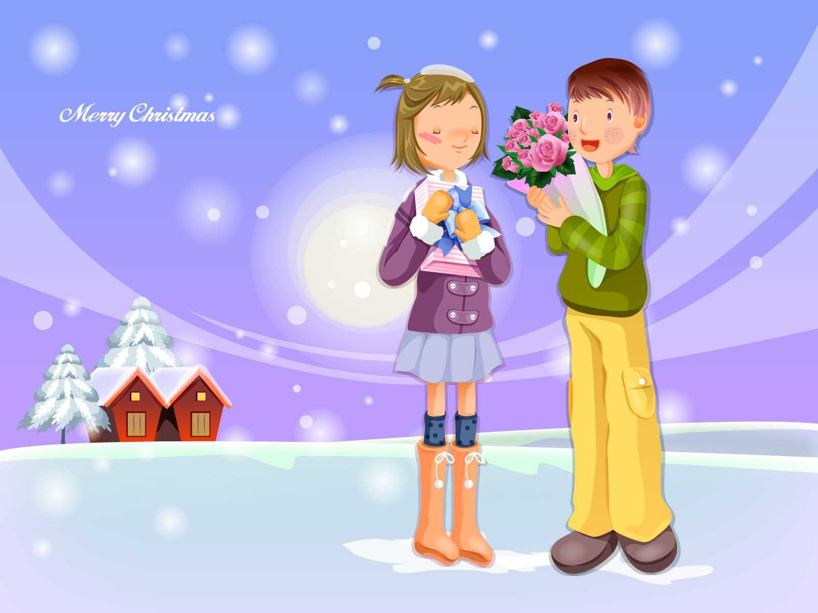 Christmas illustration wallpaper winter articles 16503
