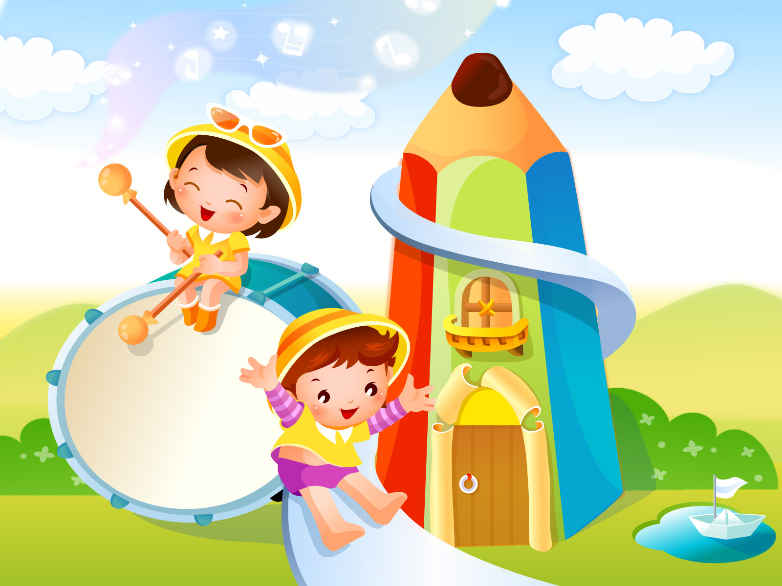 Cartoon childhood dream 19004 - Fairy tales illustration - Cartoon ...