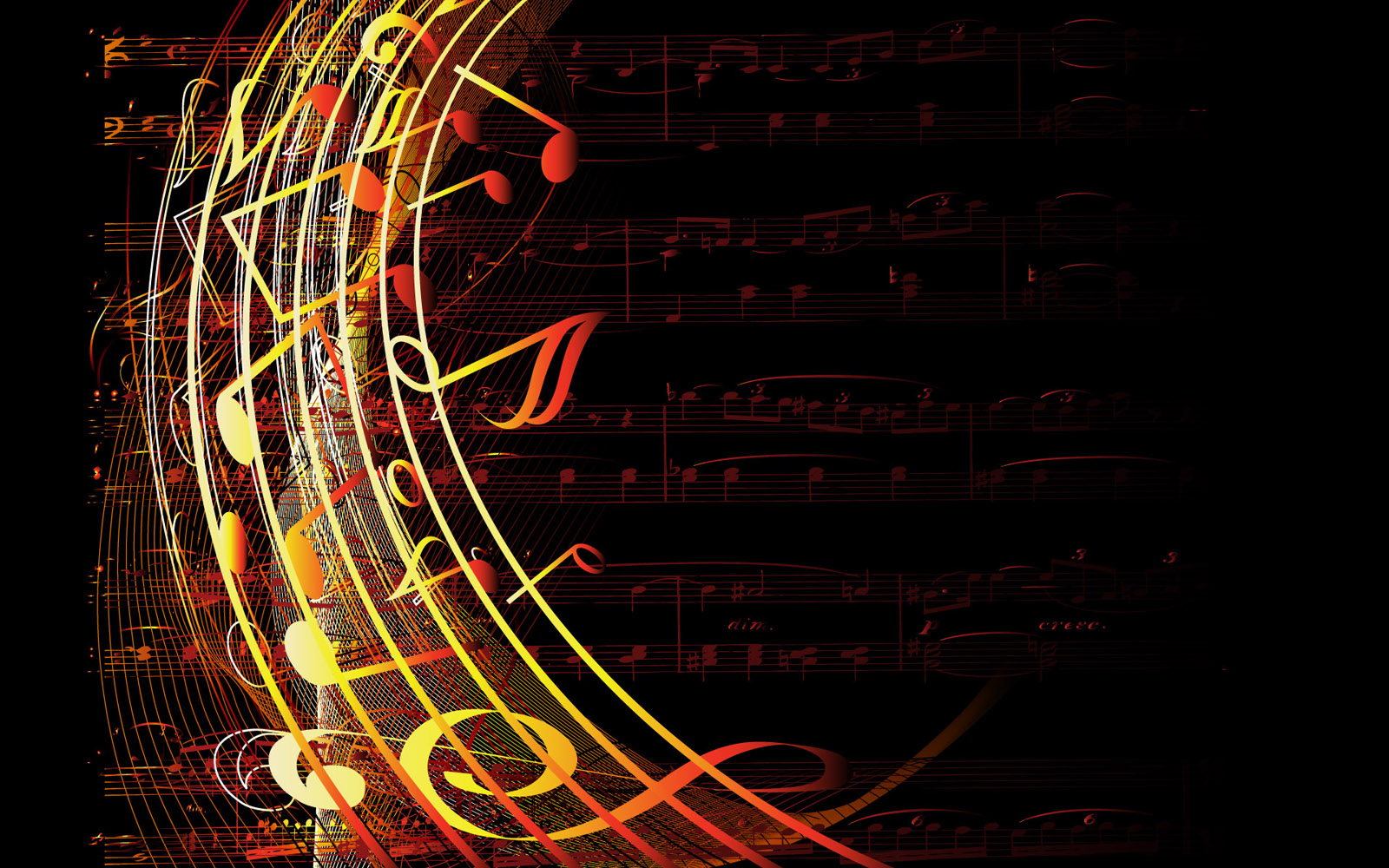 Vector musical theme 10537
