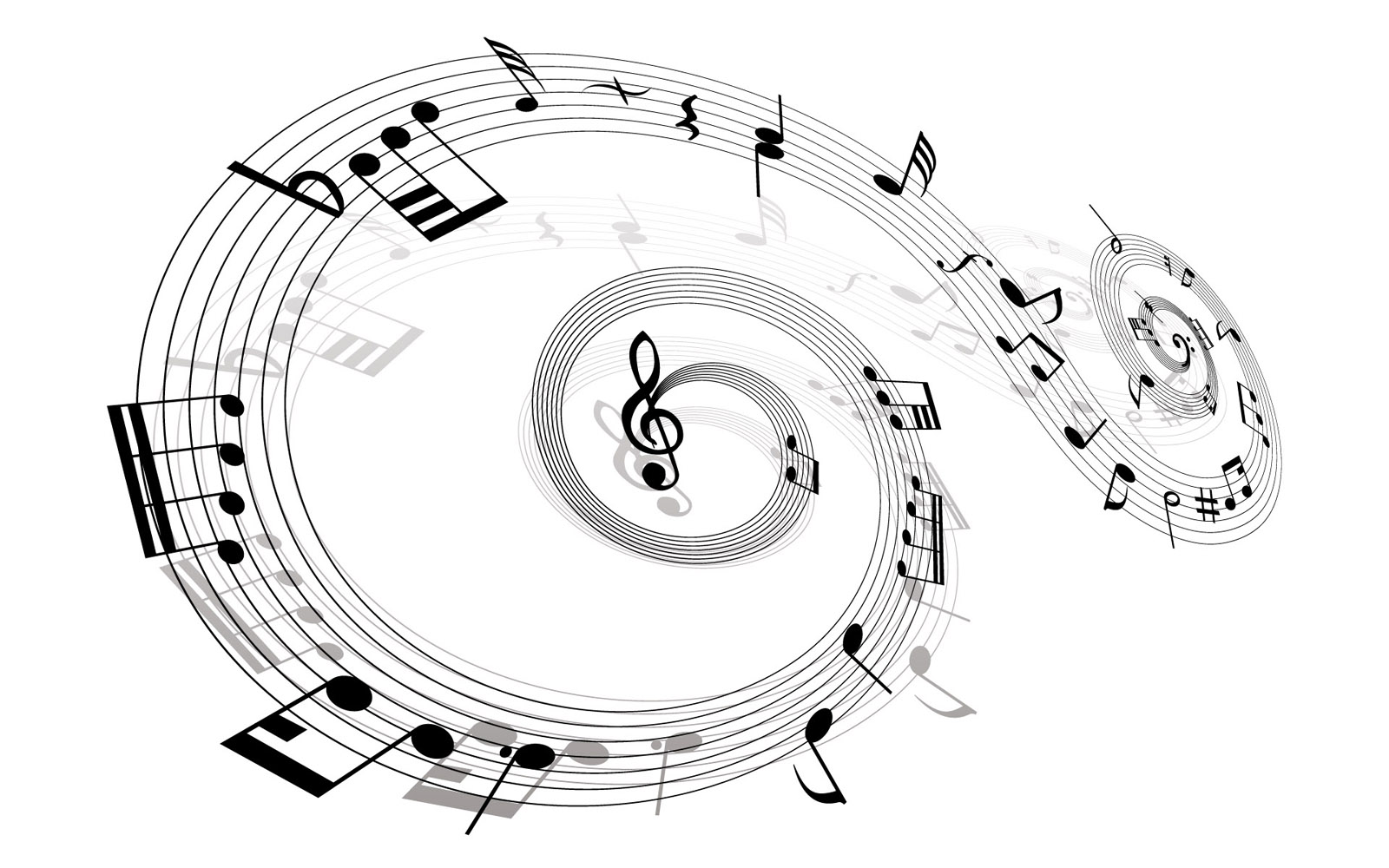 Vector musical theme 9068