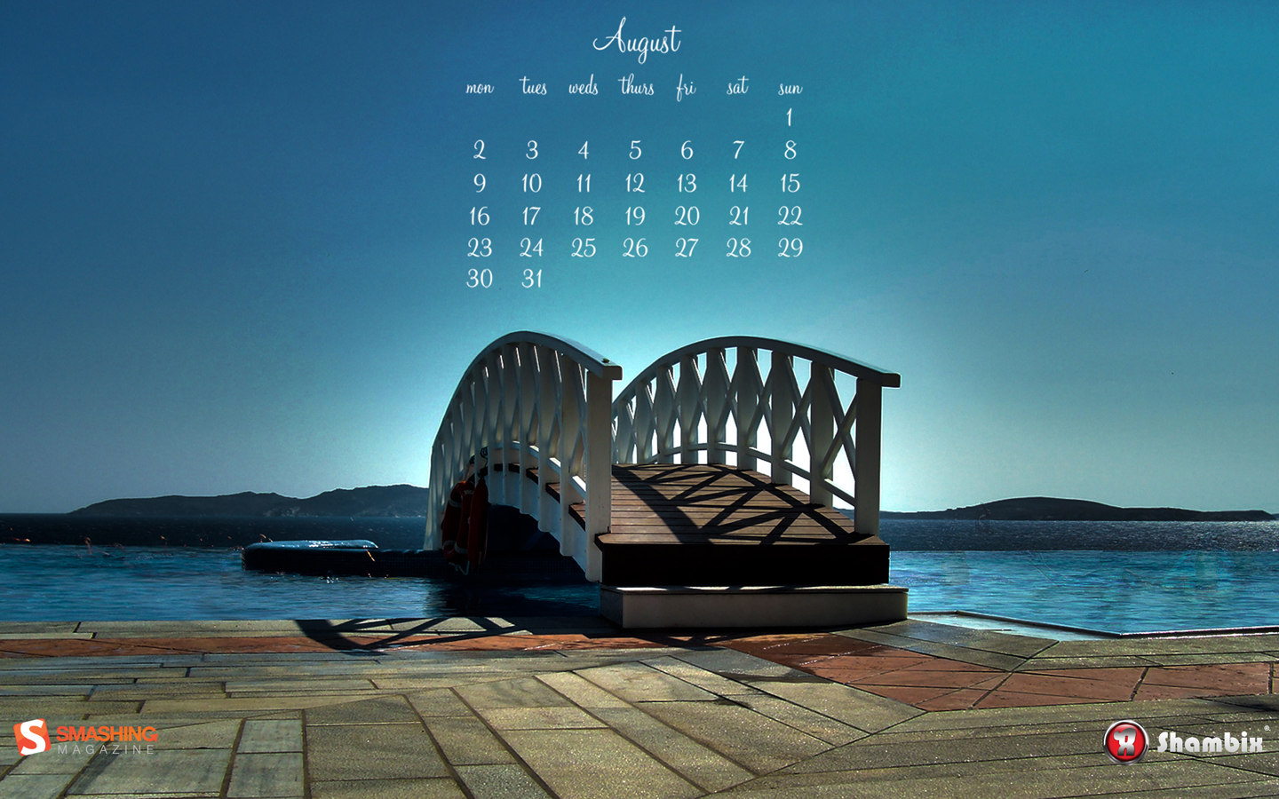 In the month calendar widescreen 11029