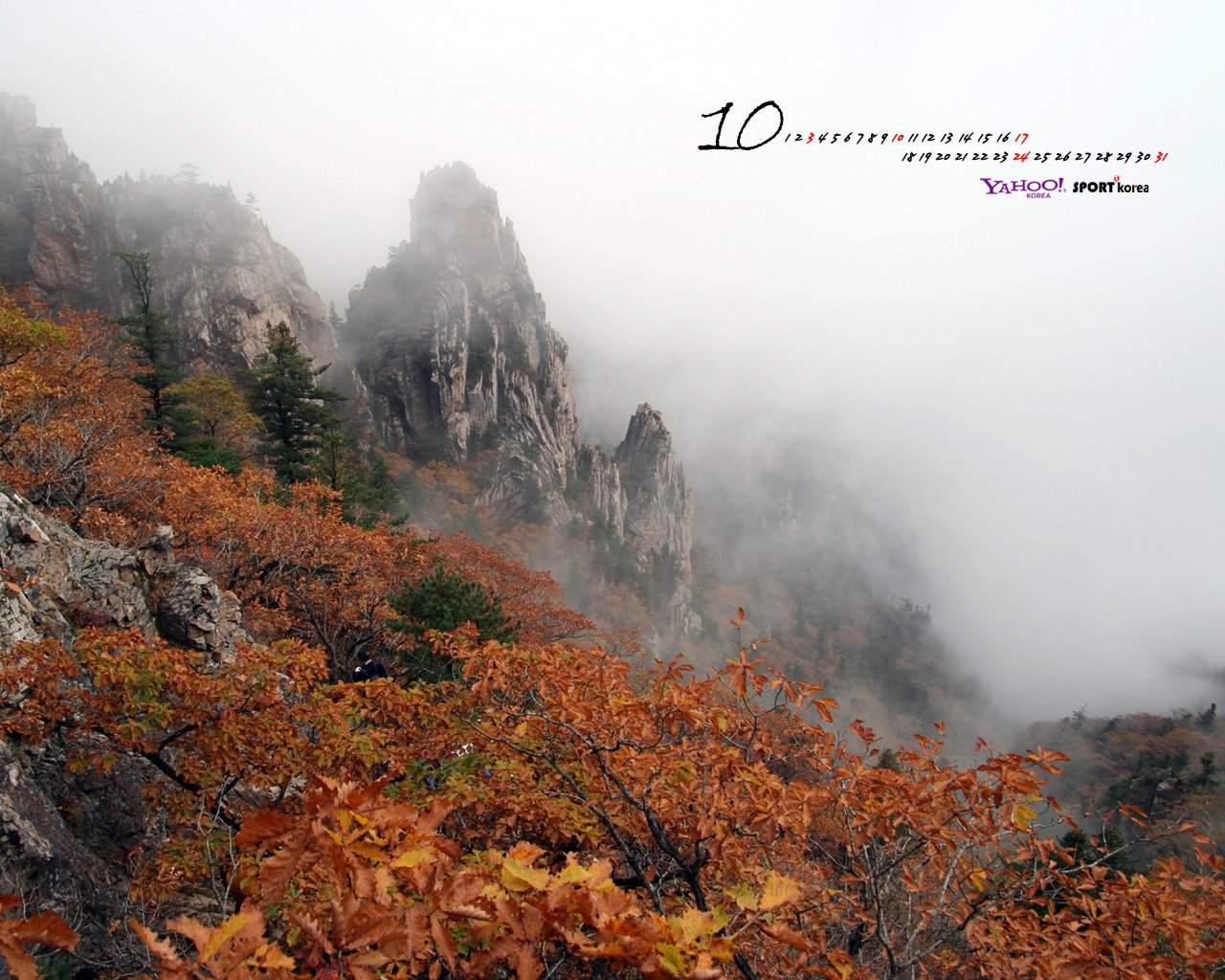 YAHOO October Calendar Wallpaper 15855