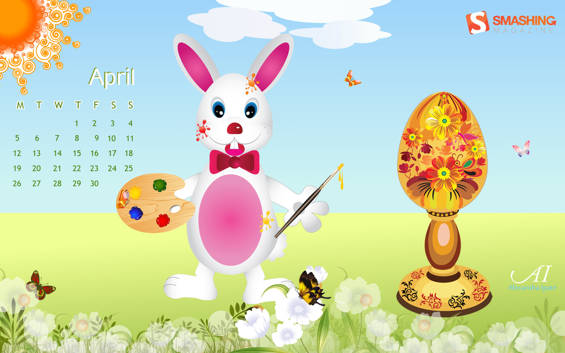 Calendar Wallpaper for April 5132