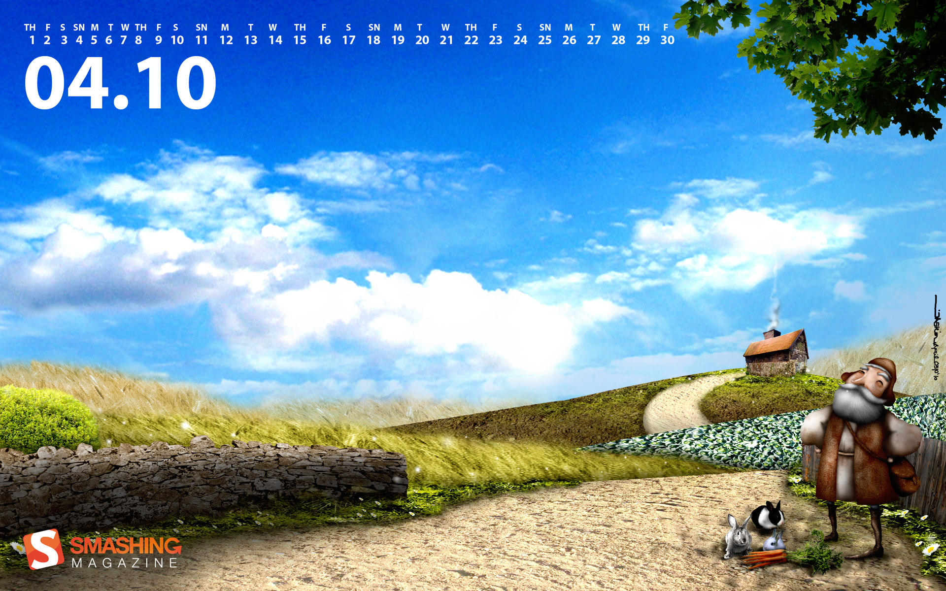 Calendar Wallpaper for April 6394