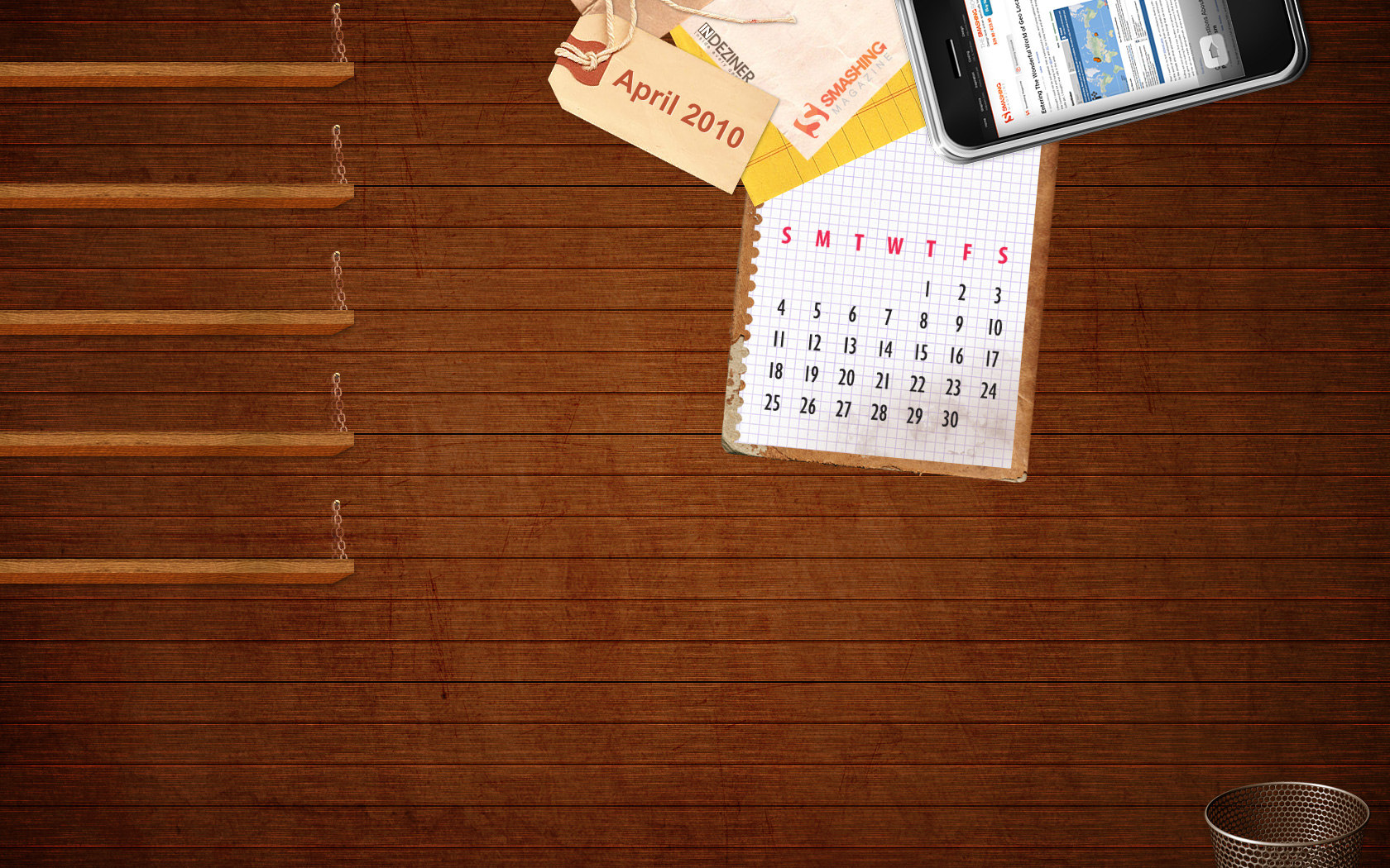 Calendar Wallpaper for April 6521