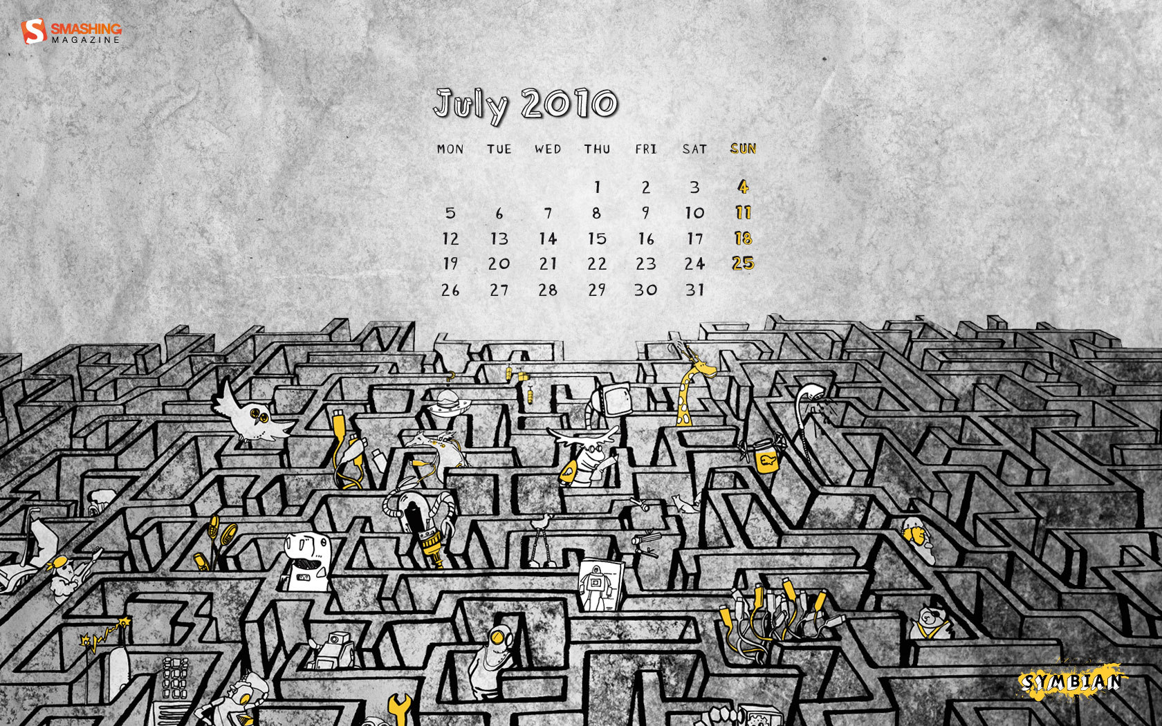 Wallpaper calendar years 8742