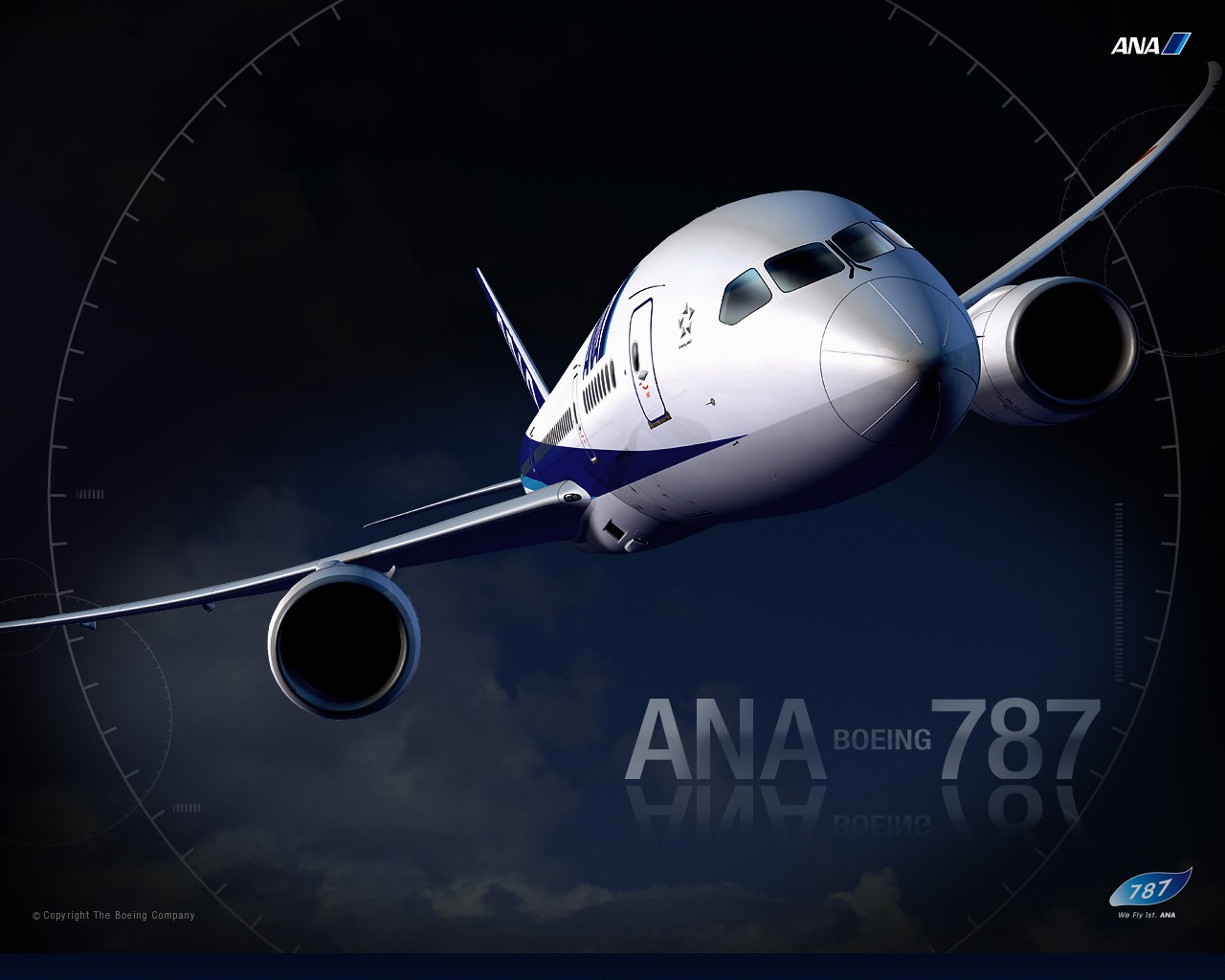 ANA All Nippon Airways Boeing Dreamliner wallpaper 30322