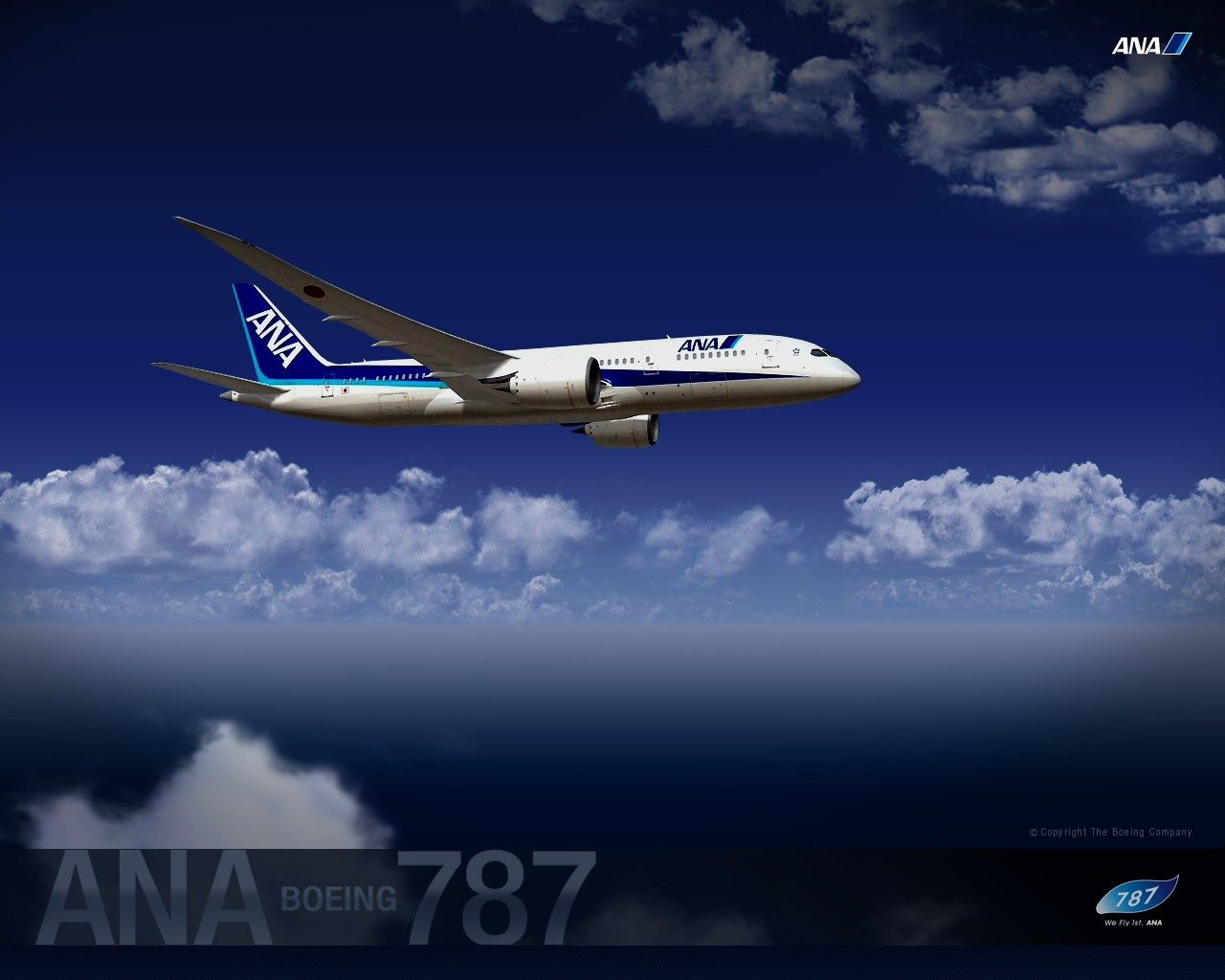 ANA All Nippon Airways Boeing Dreamliner wallpaper 30345