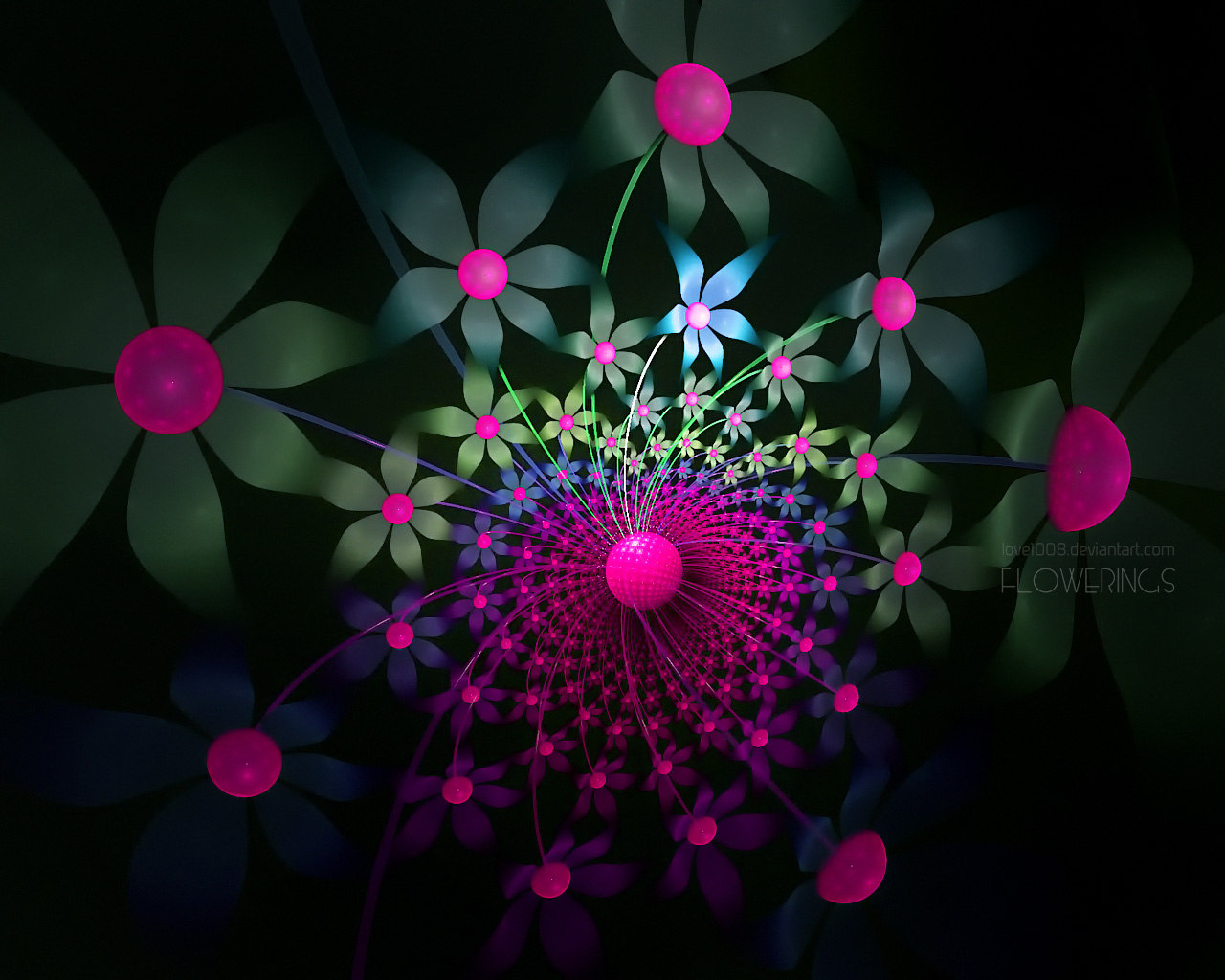 Abstract visual graphics of light 4558