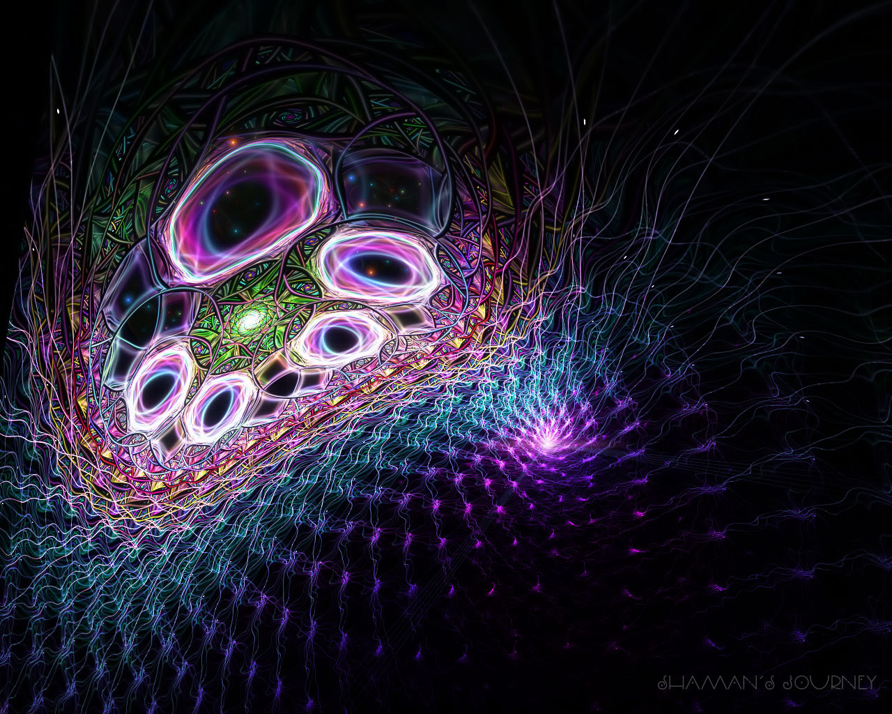 Abstract visual graphics of light 4993