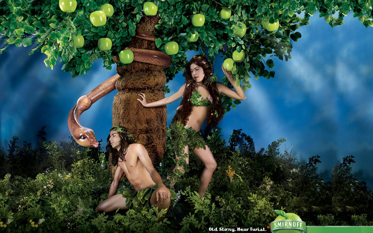 Green apple vodka advertising 28578