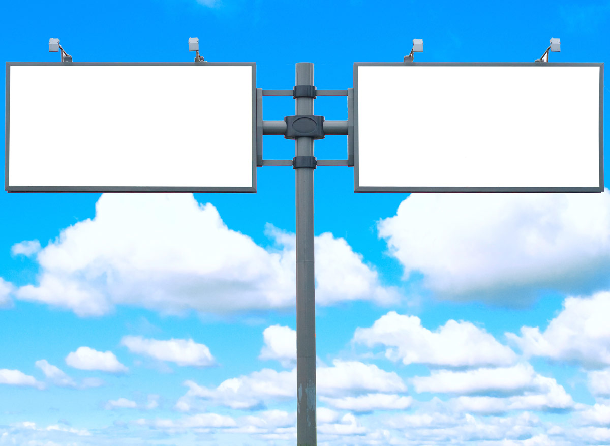 High-definition blank billboard 27494
