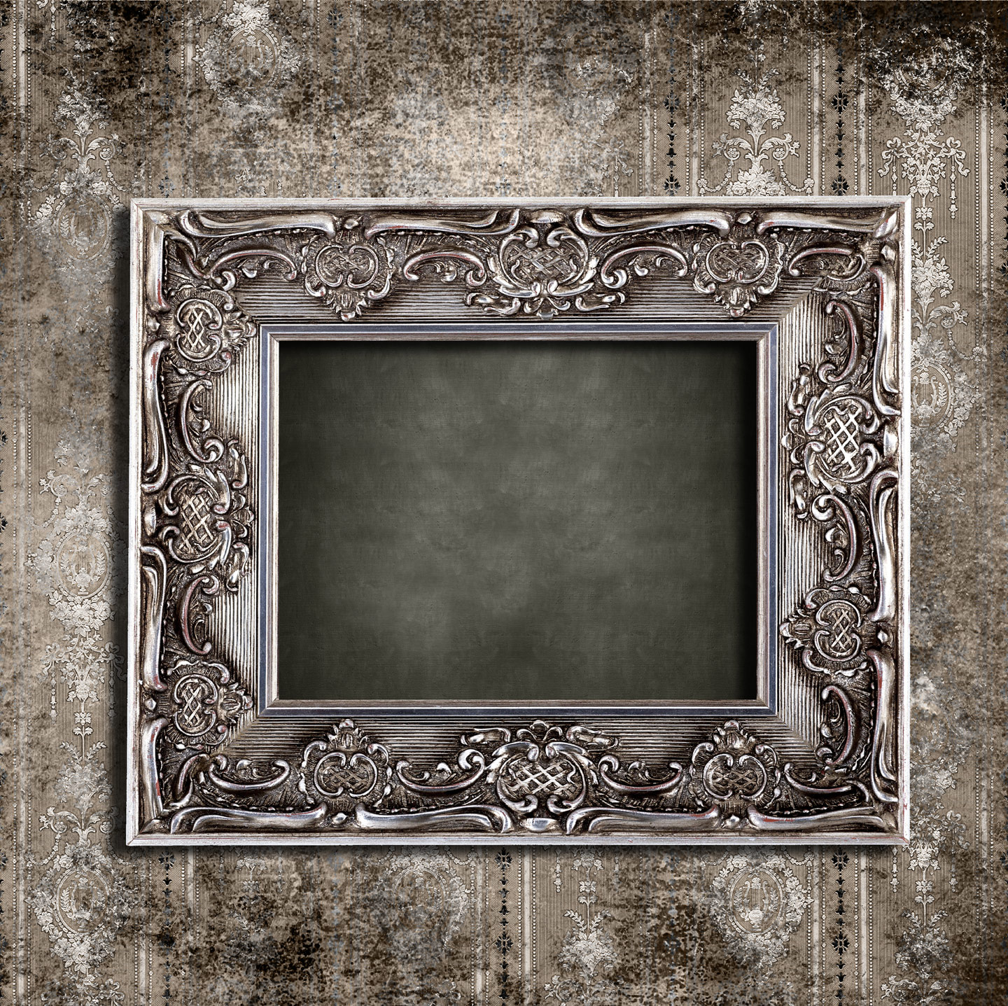 European-style frame with beautiful wallpaper 27506