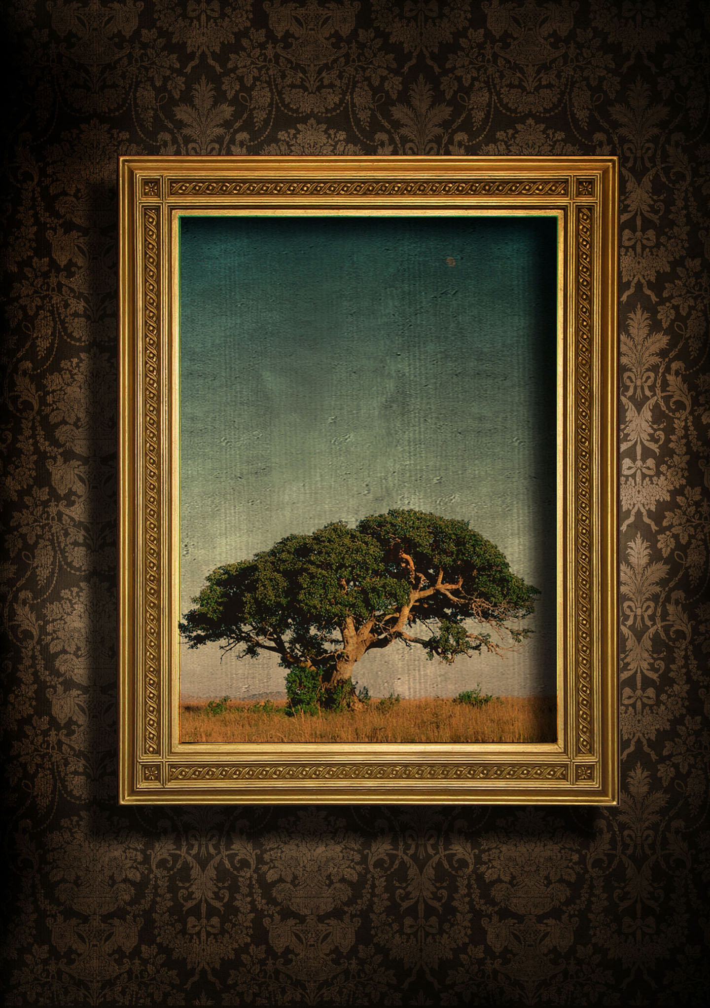European-style frame with beautiful wallpaper 27512 - Classic design ...