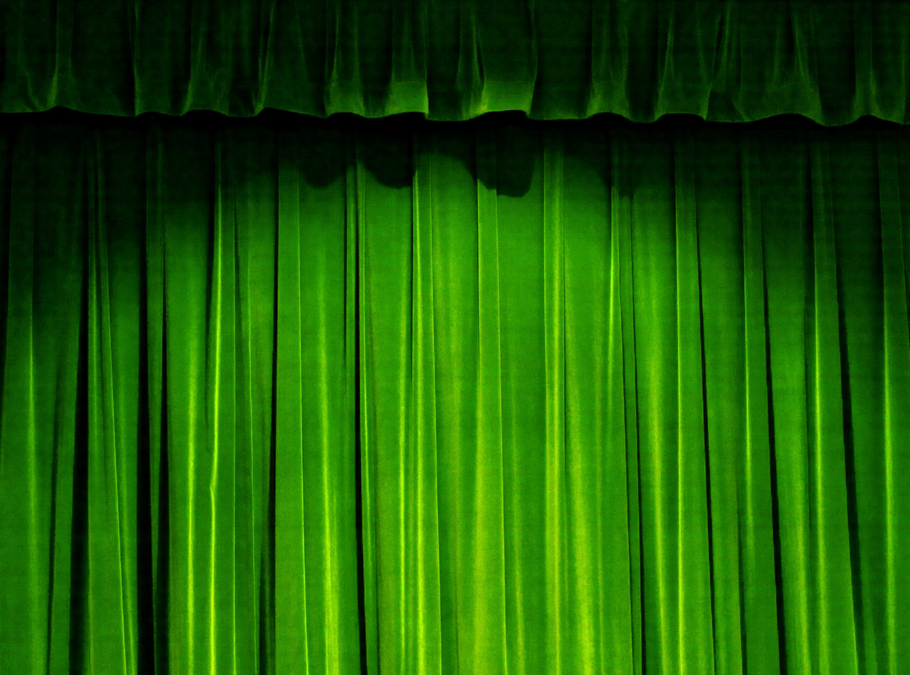 HD green curtain material 27560