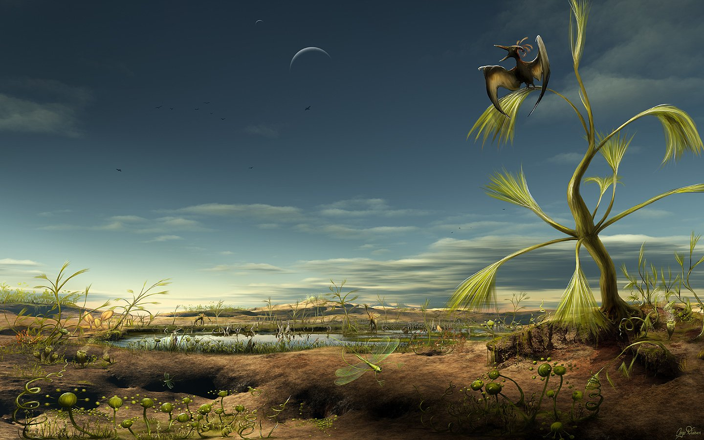 Alien Biotope Desktop Wallpaper 23000