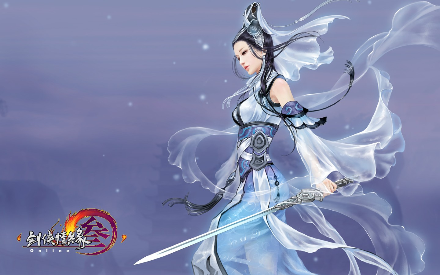 D martial arts online game wallpaper of JX 30223