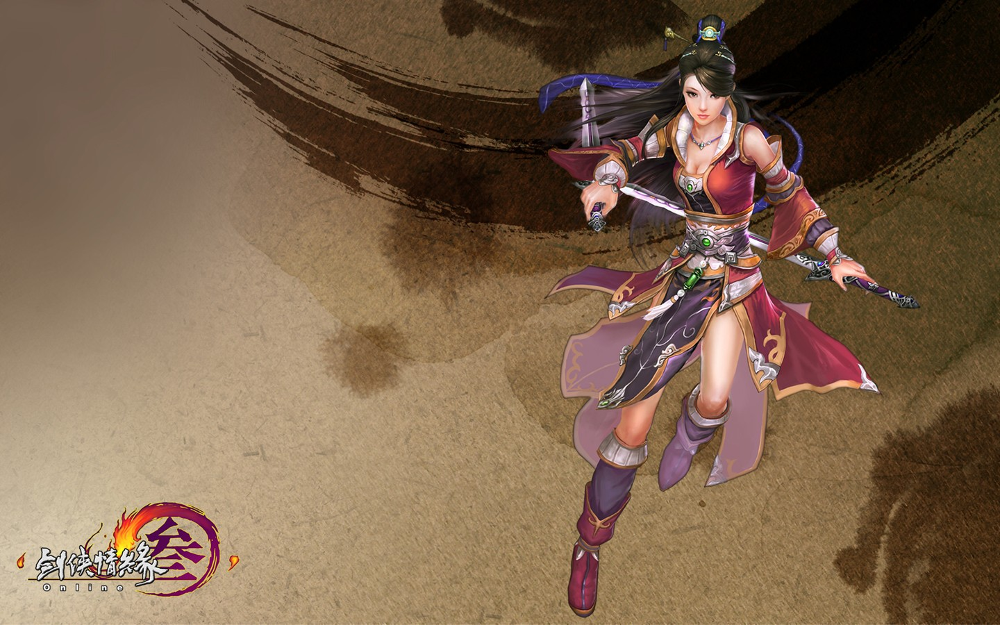 D martial arts online game wallpaper of JX 30239